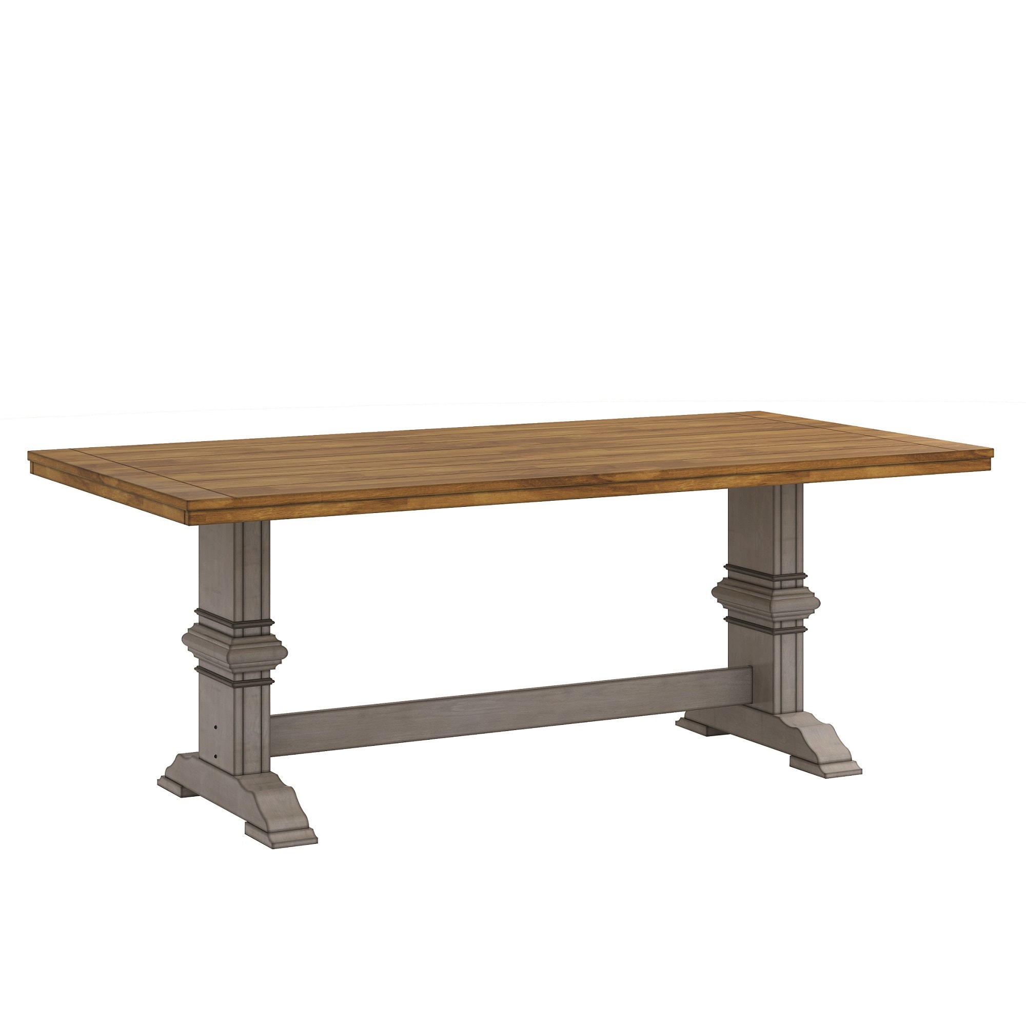 Eleanor Two Tone Rectangular Solid Wood Top Dining Table By INSPIRE Q  Classic   Free Shipping Today   Overstock   20215861
