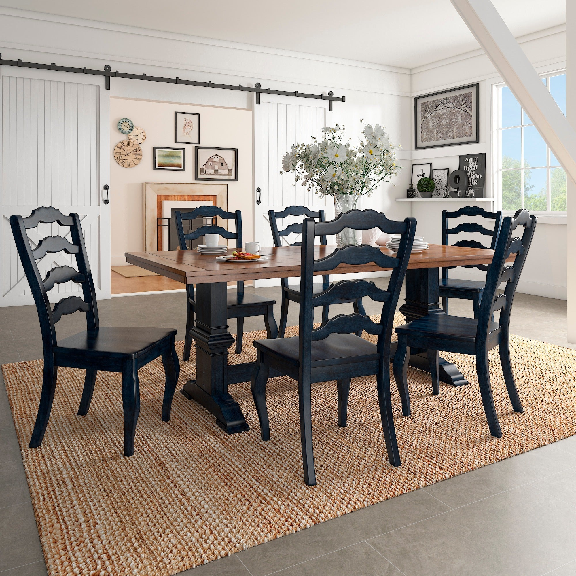 Eleanor Two Tone Rectangular Solid Wood Top Dining Table By Inspire Q Clic Free Shipping Today 13535779