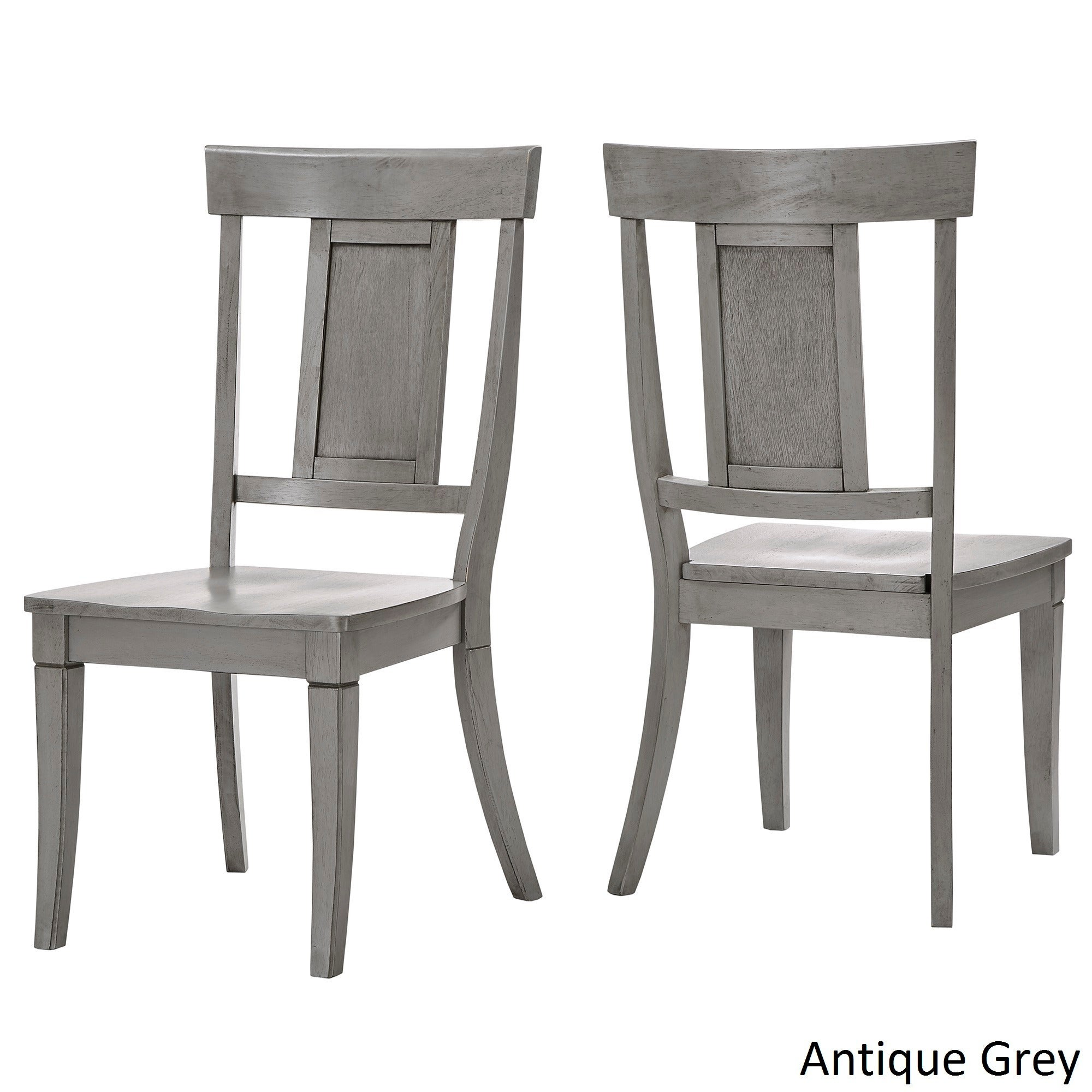 gray and white dining chairs round back shop eleanor panel back wood dining chair set of 2 by inspire classic on sale free shipping today overstockcom 13535890
