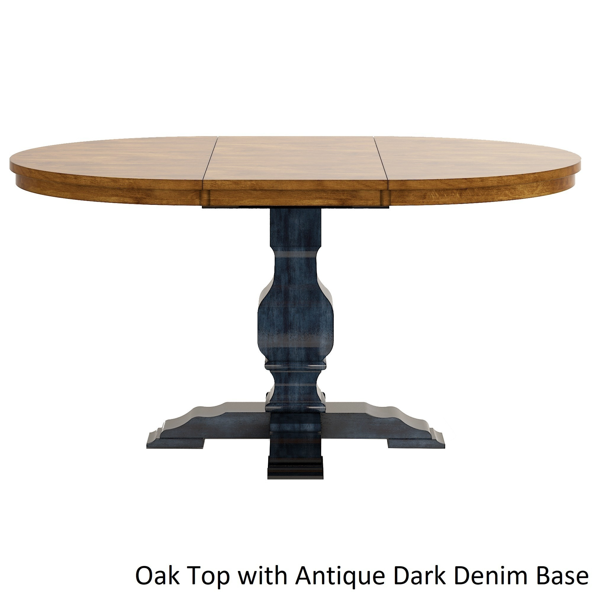 Eleanor Two Tone Oval Solid Wood Top Extending Dining Table By Inspire Q Clic Free Shipping Today 13535941