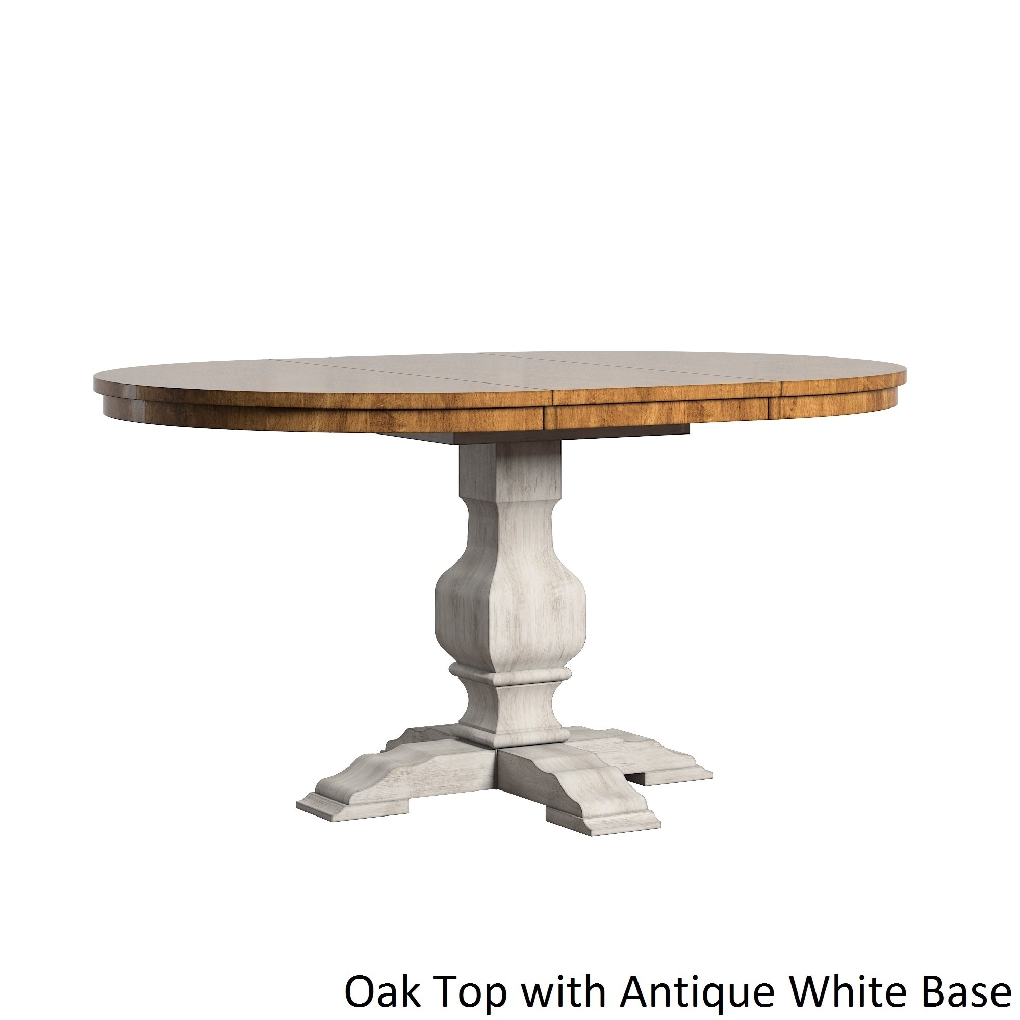 Eleanor Two Tone Oval Solid Wood Top Extending Dining Table By Inspire Q Clic On Free Shipping Today 13535941