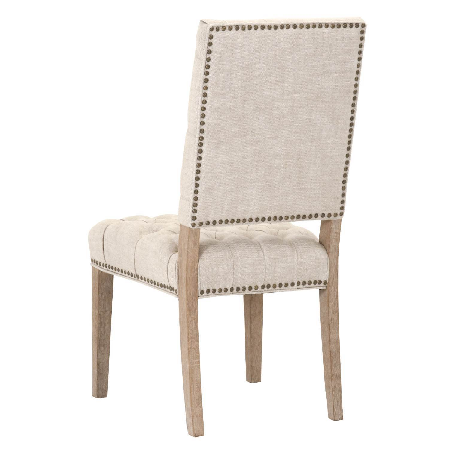 Grey Manor York Bisque French Linen Dining Chairs (Set Of 2)   Free  Shipping Today   Overstock   20216196