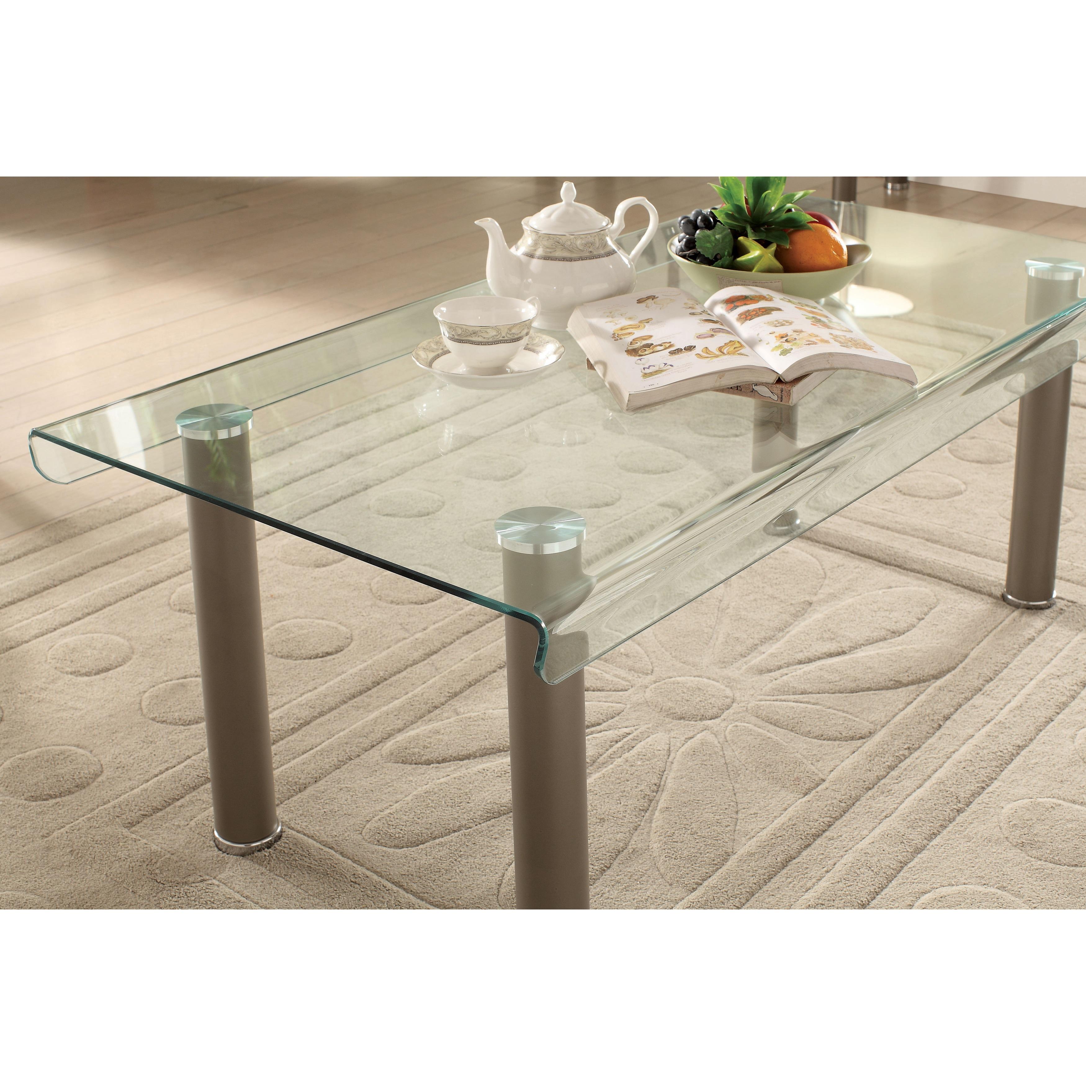 Furniture of America Creme Contemporary 3 piece Glass