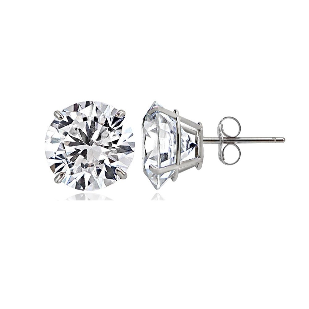 14k Gold Cubic Zirconia Stud Earrings Free Shipping On Orders Over 45 13541956