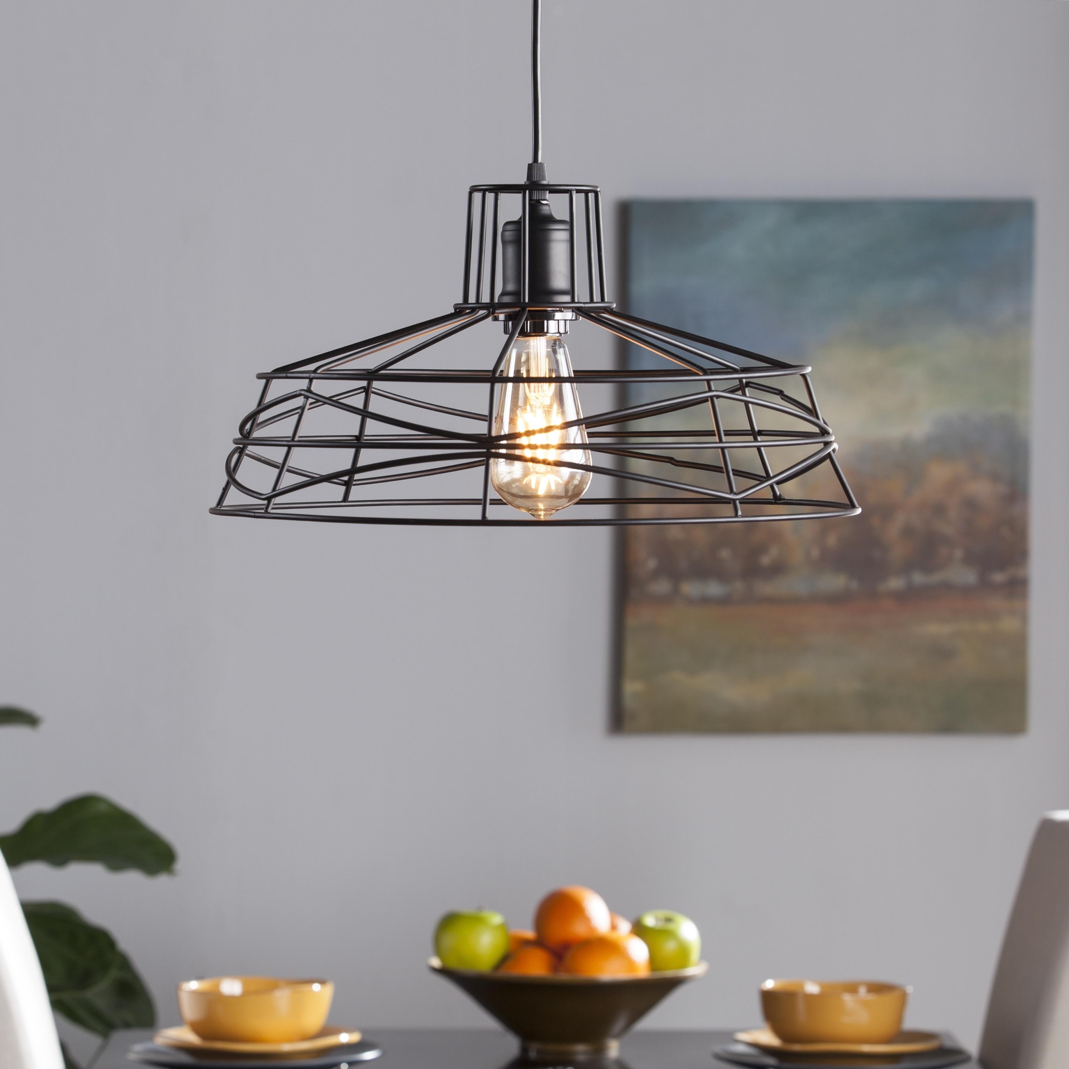 Shop Harper Blvd Valassina Wire Cage Pendant Lamp - On Sale - Free ...
