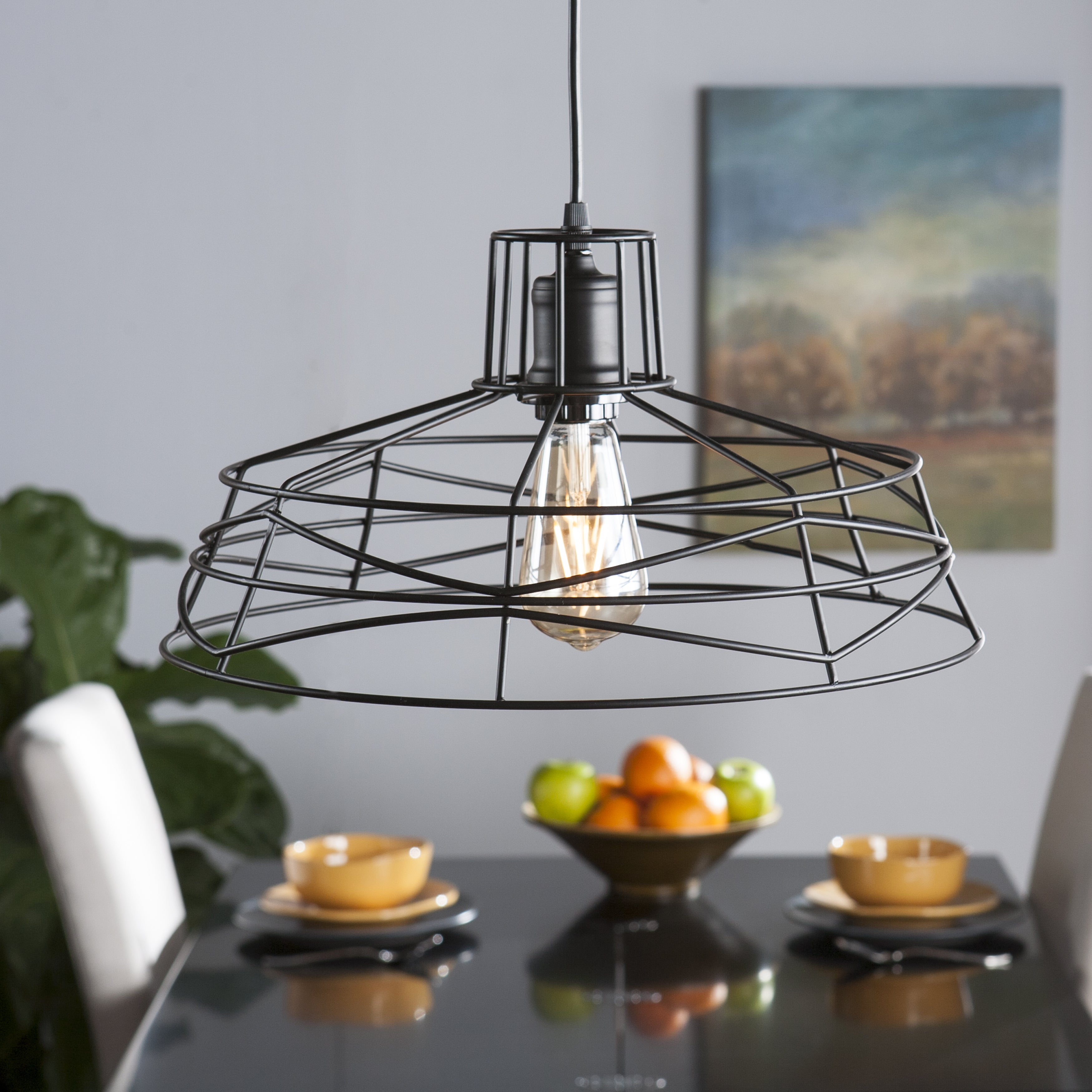 Shop Harper Blvd Valassina Wire Cage Pendant Lamp - Free Shipping ...