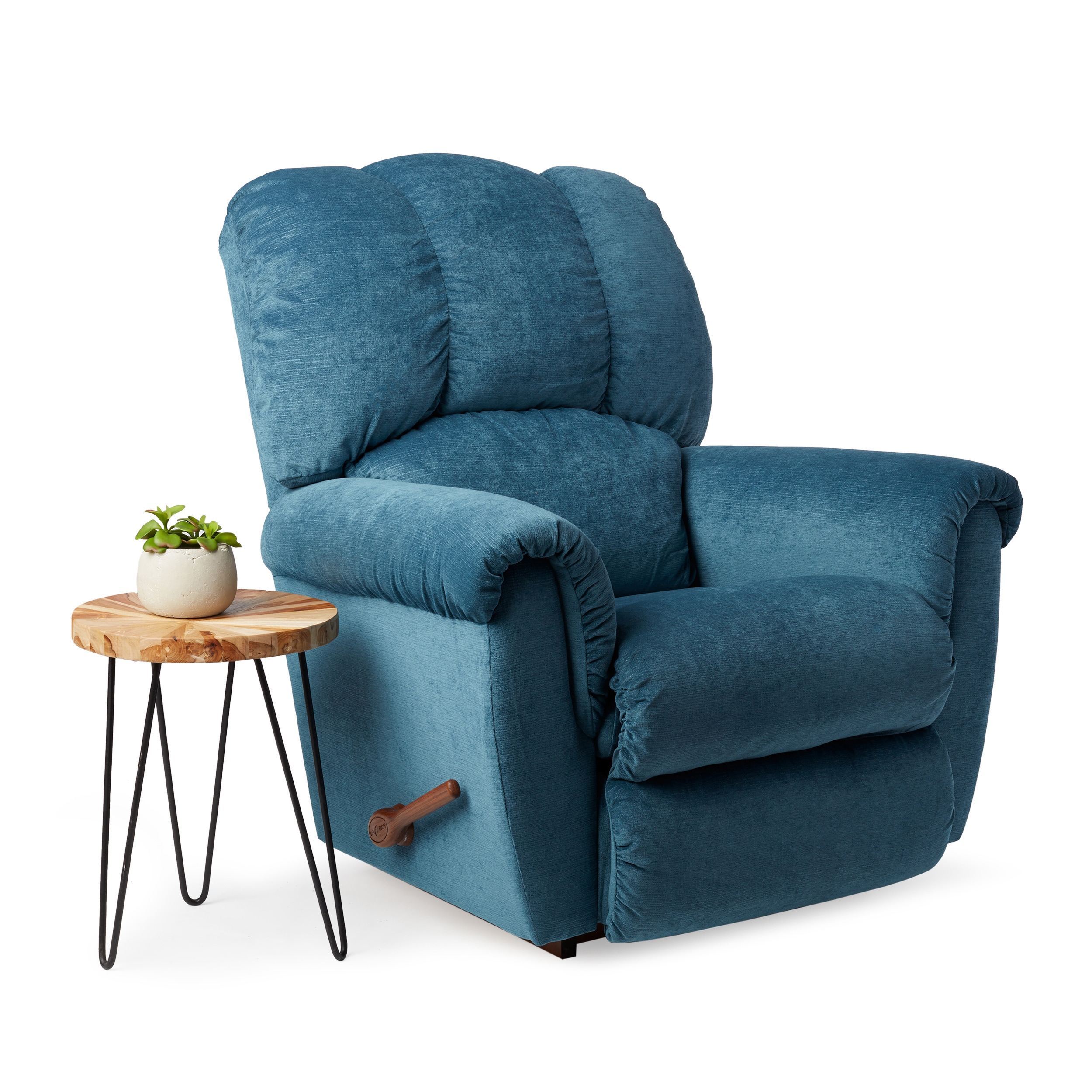 Shop La Z Boy Connor Teal Blue Recliner   Free Shipping Today    Overstock.com   13542354