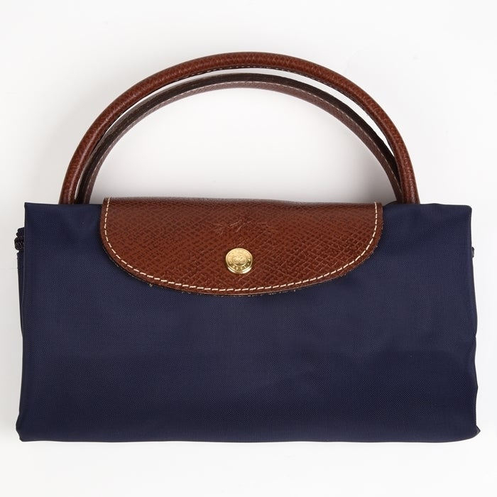 d77bdbe1a627 Shop Longchamp Le Pliage Large Navy Foldable Tote Bag - Free Shipping Today  - Overstock - 13544120