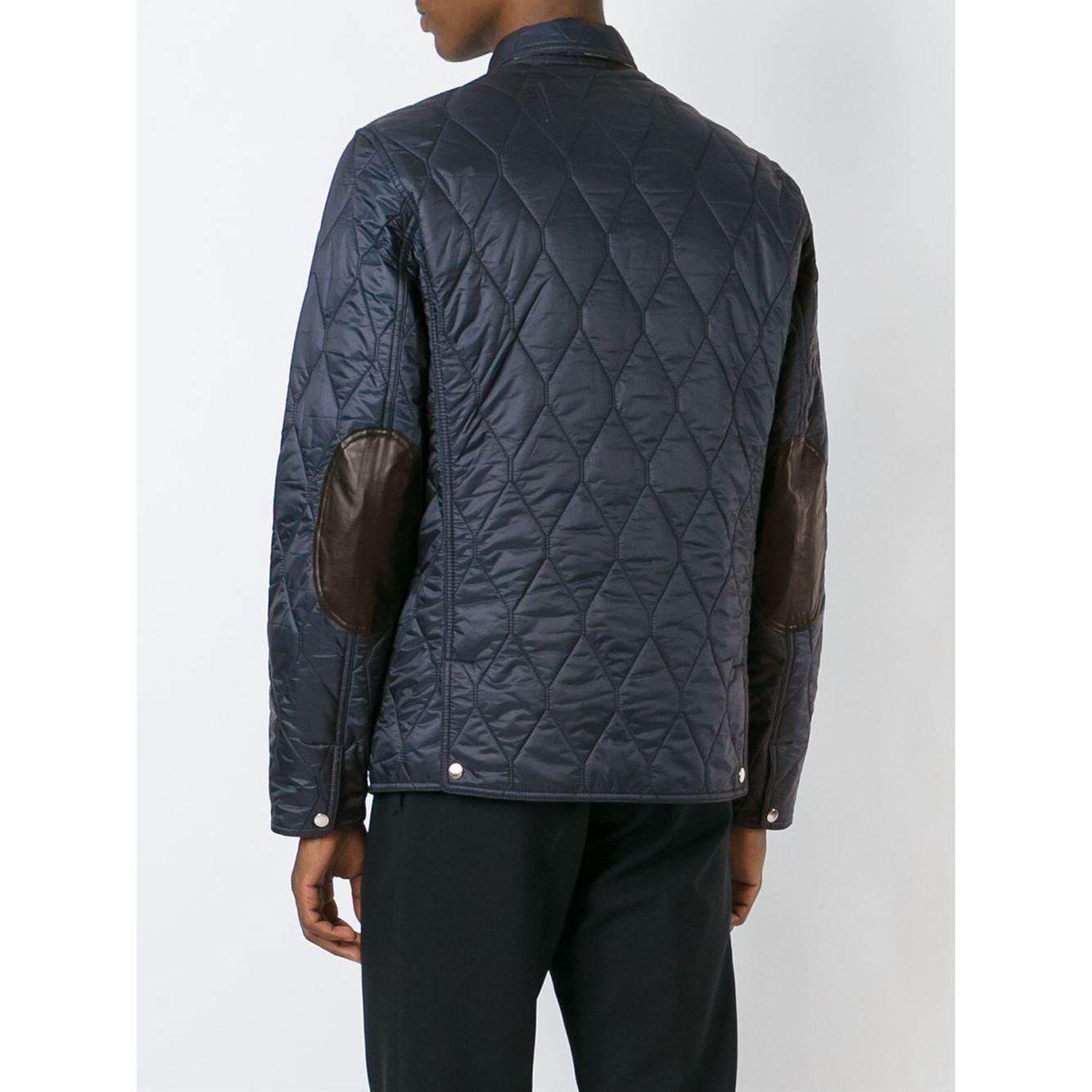 quilted jacket burberry leather aaron quilt mens s biker black paul men