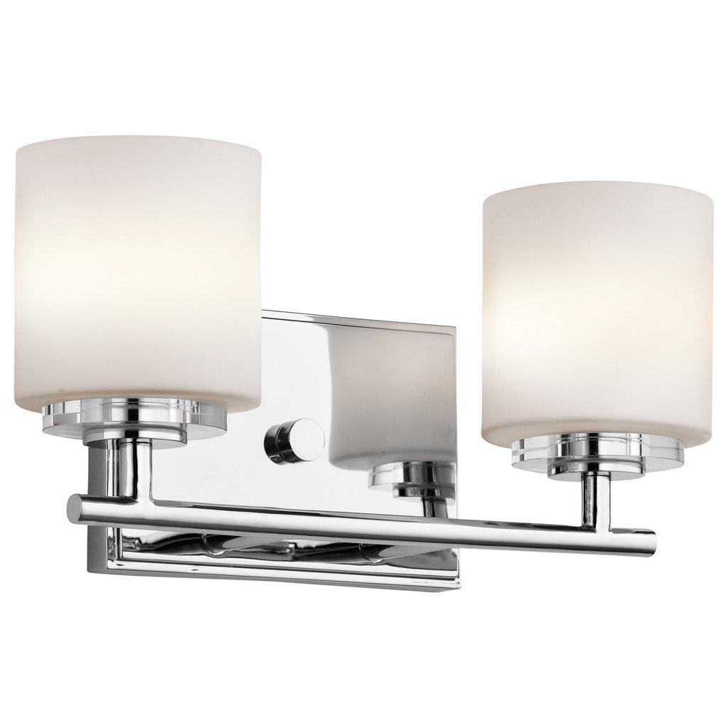 Kichler lighting ohara collection 2 light chrome halogen bath vanity light