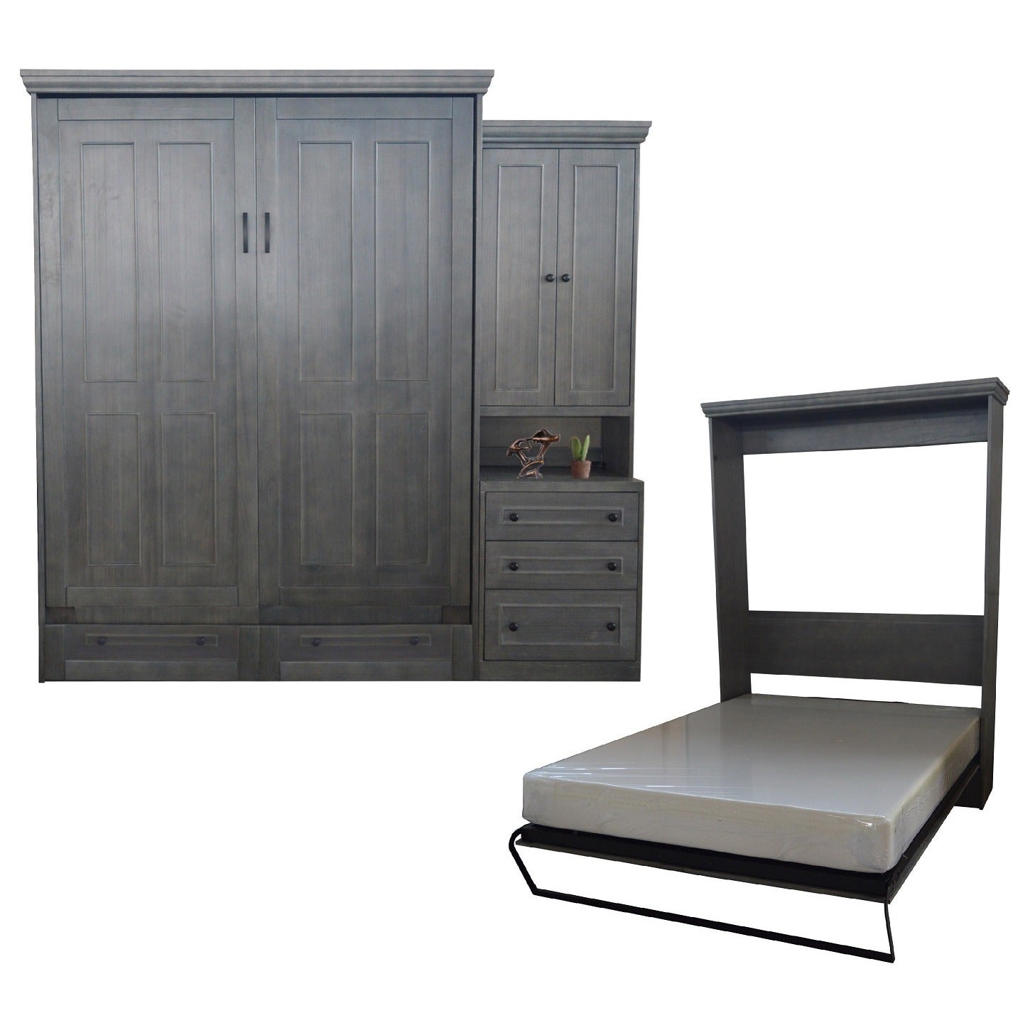 bed sierra glaze zoom wallbeds with autumn finish black rustic size style wilding murphy murphybed cherry queen haze