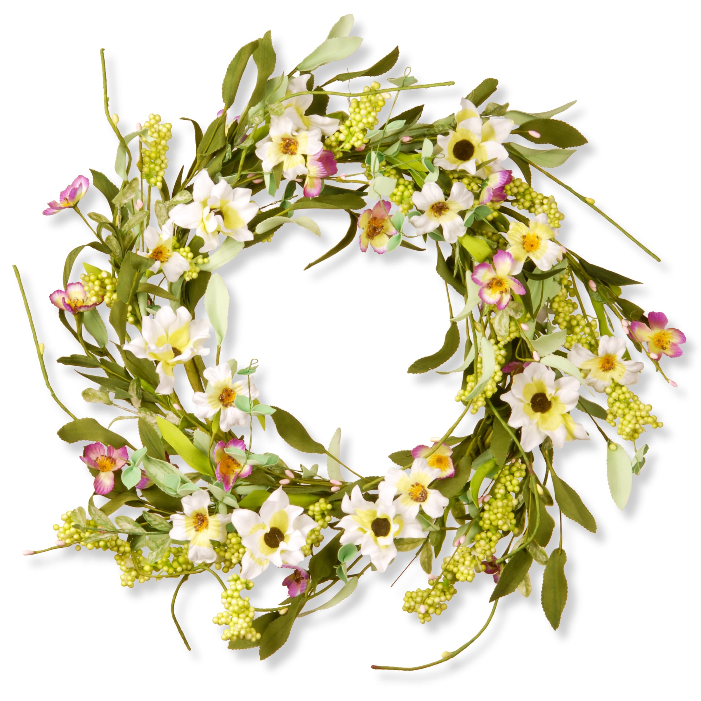 Shop national tree company bluepurplepink 20 inch spring floral shop national tree company bluepurplepink 20 inch spring floral wreath decor free shipping on orders over 45 overstock 13554589 izmirmasajfo