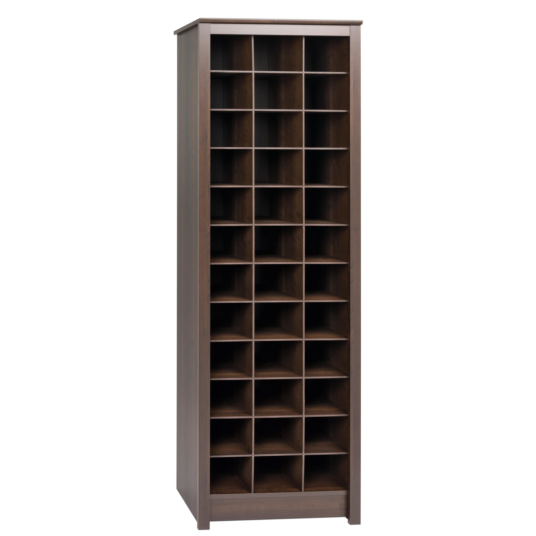Prepac Everett Espresso Laminate E Saving Shoe Storage Cabinet N A Free Shipping Today 13555034