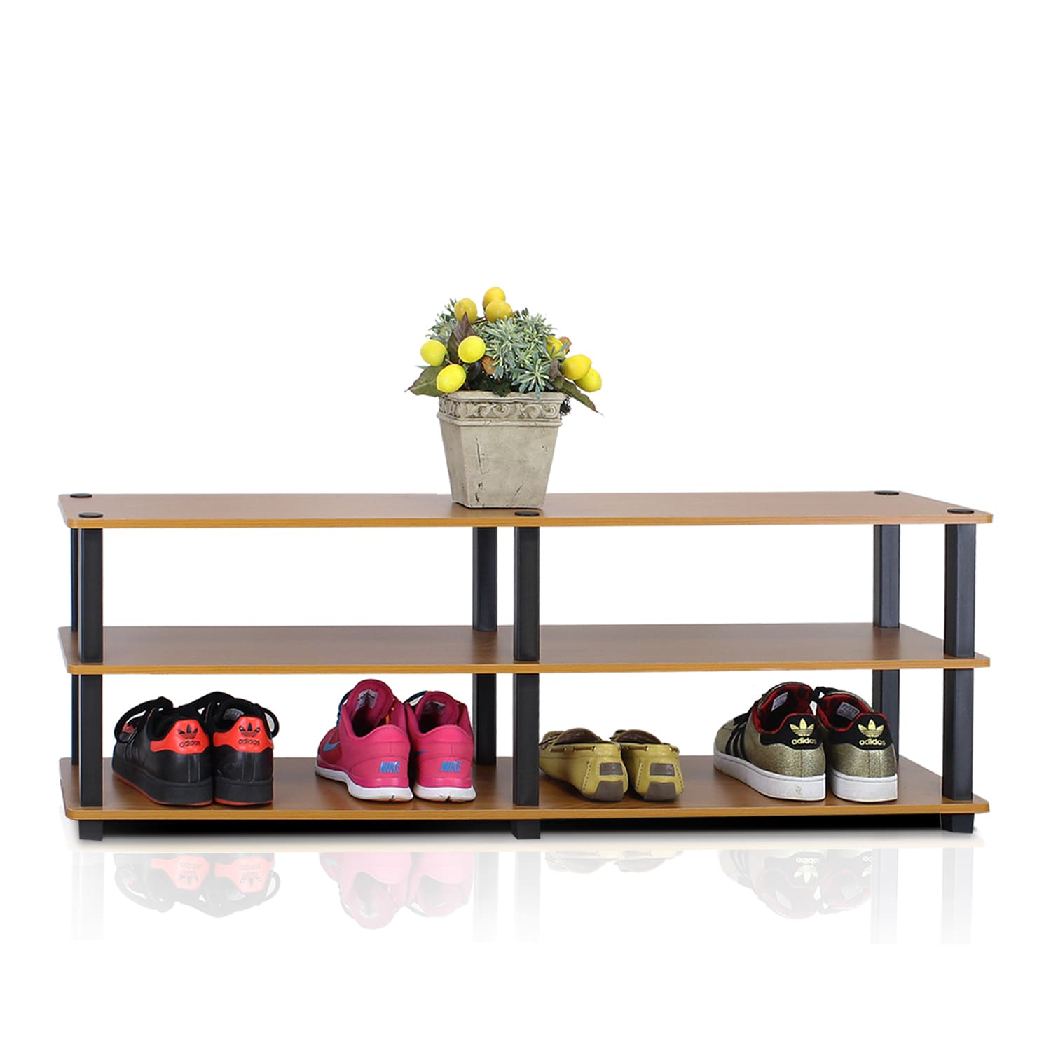 Furinno TST No Tools 3 Tier Wide Shoe Storage Rack Free