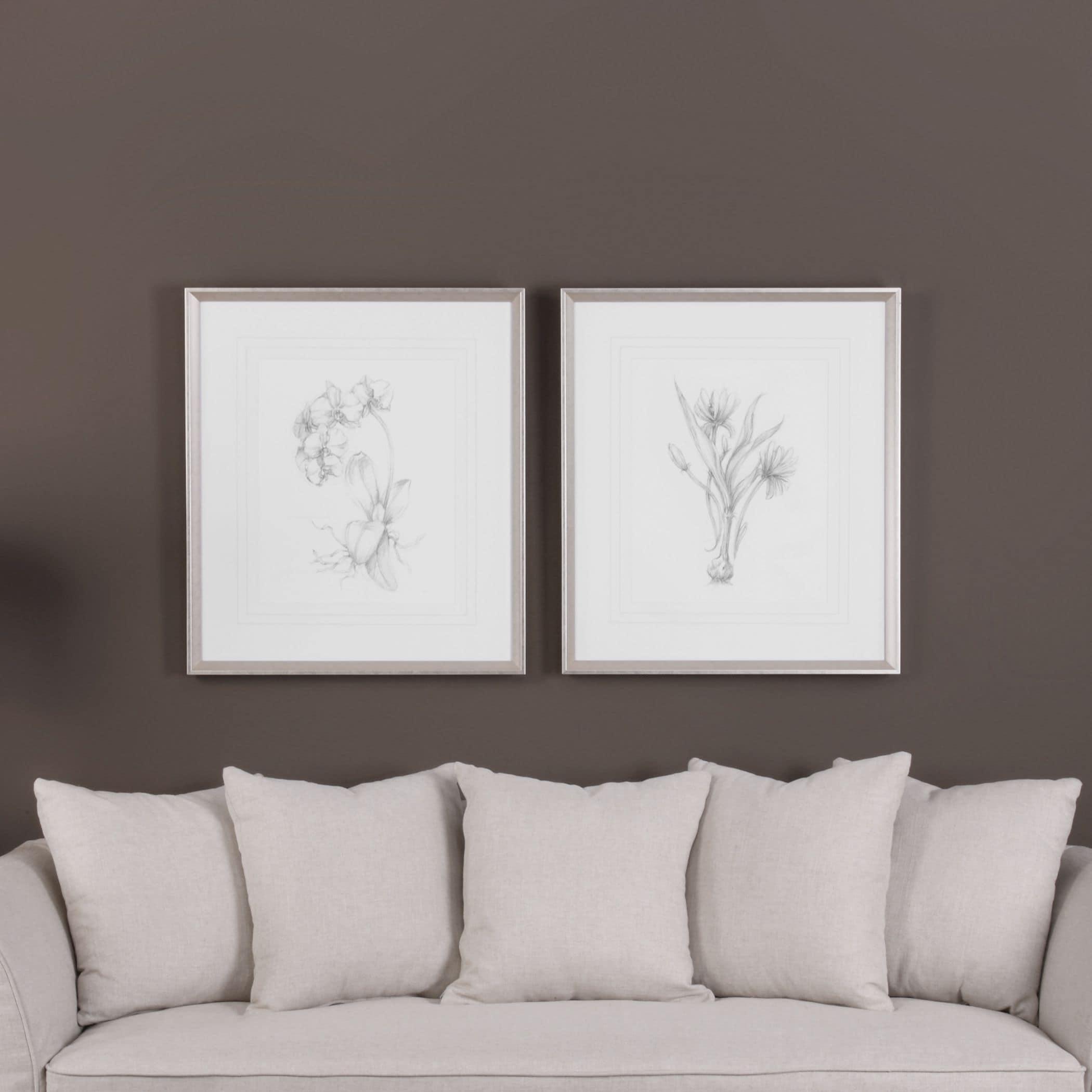 Shop Uttermost Botanical Sketches Framed Prints (Set of 2) - Free ...