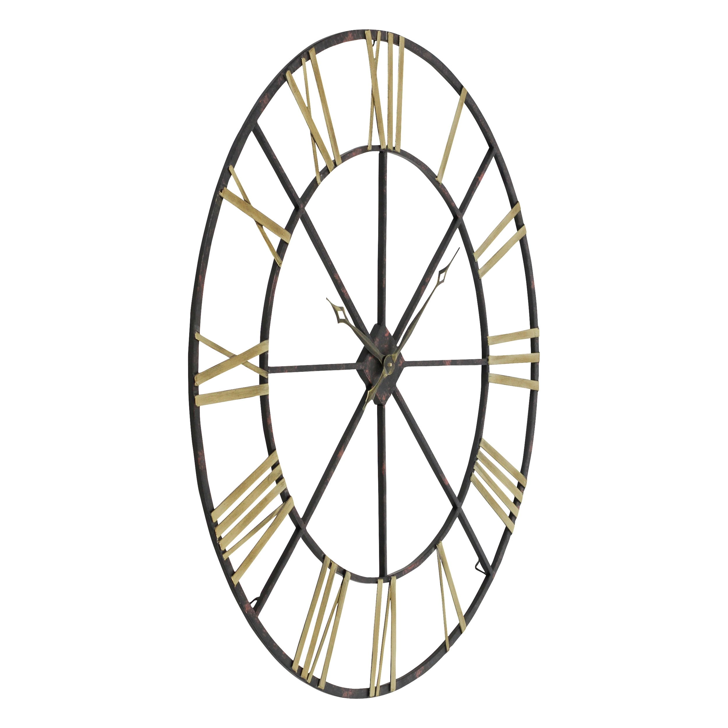 Baldwin Oversized BlackGoldtone Metal 48inch Wall Clock Free