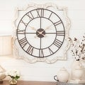 Eloise Off-white Metal French Country Wall Clock