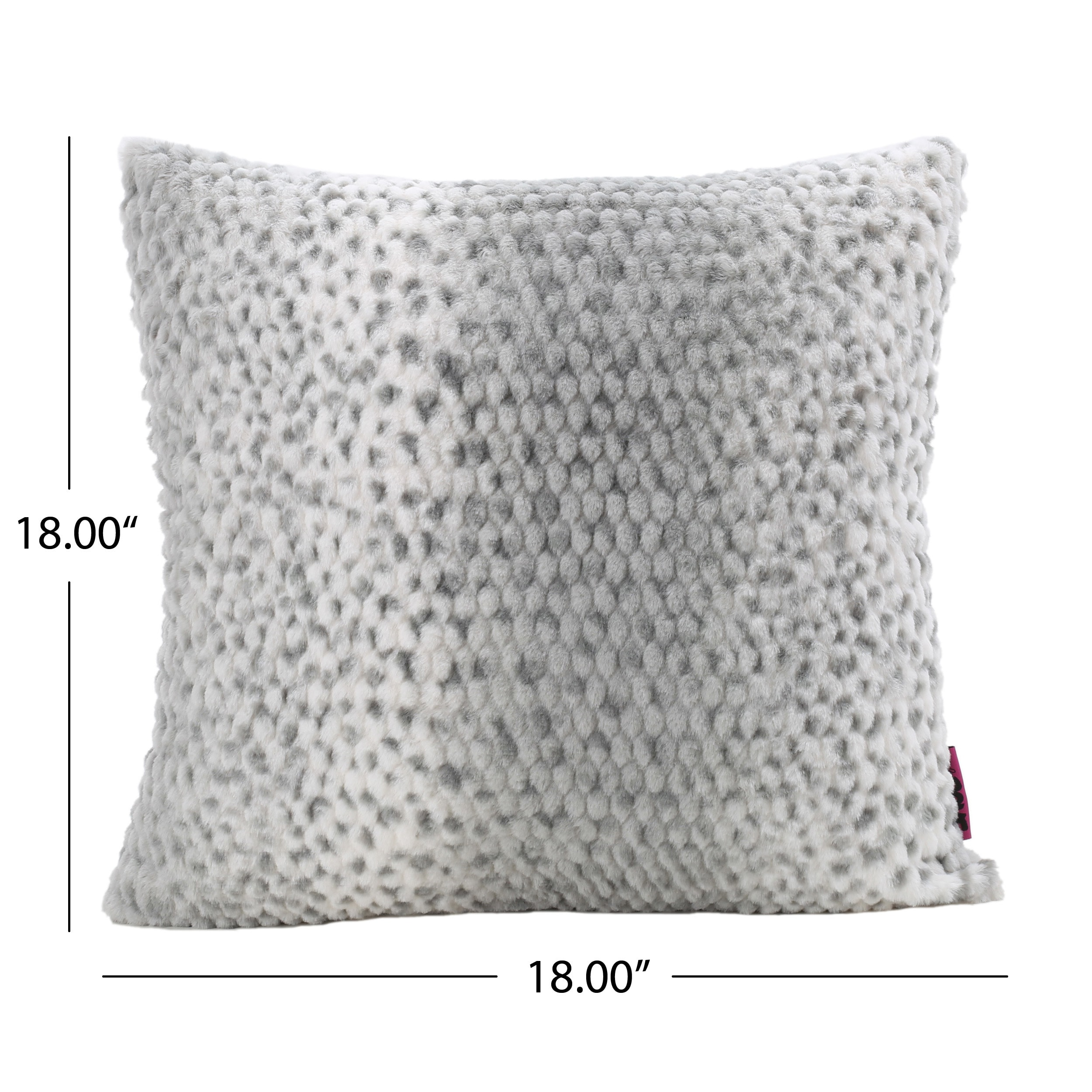 77f695d9d9fda Shop Elise Faux Fur 18-inch Square Throw Pillow by Christopher Knight Home  - On Sale - Free Shipping On Orders Over  45 - Overstock - 13578818