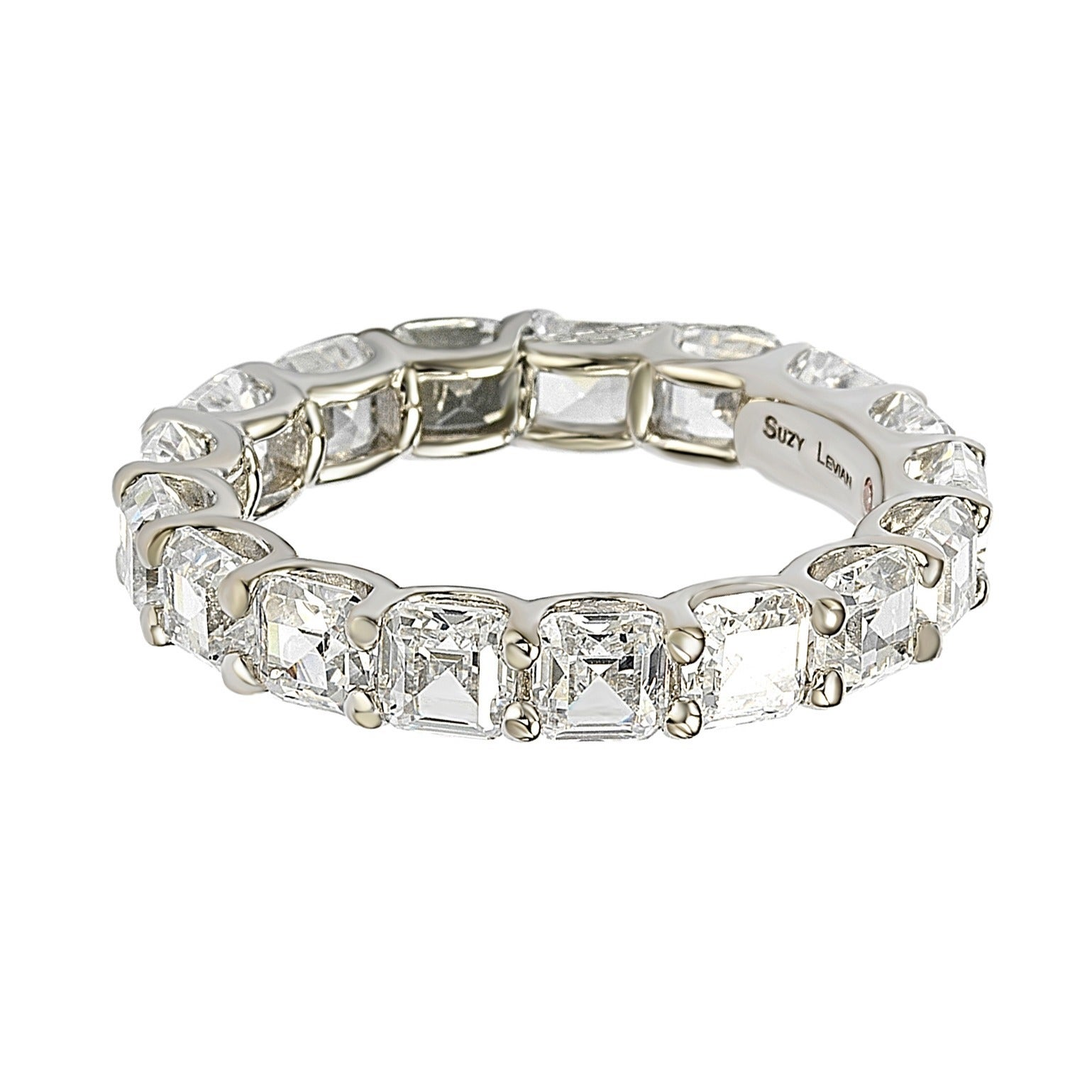 of bands page eternity zirconia pave qvc diamonique rings band cubic com sterling set product