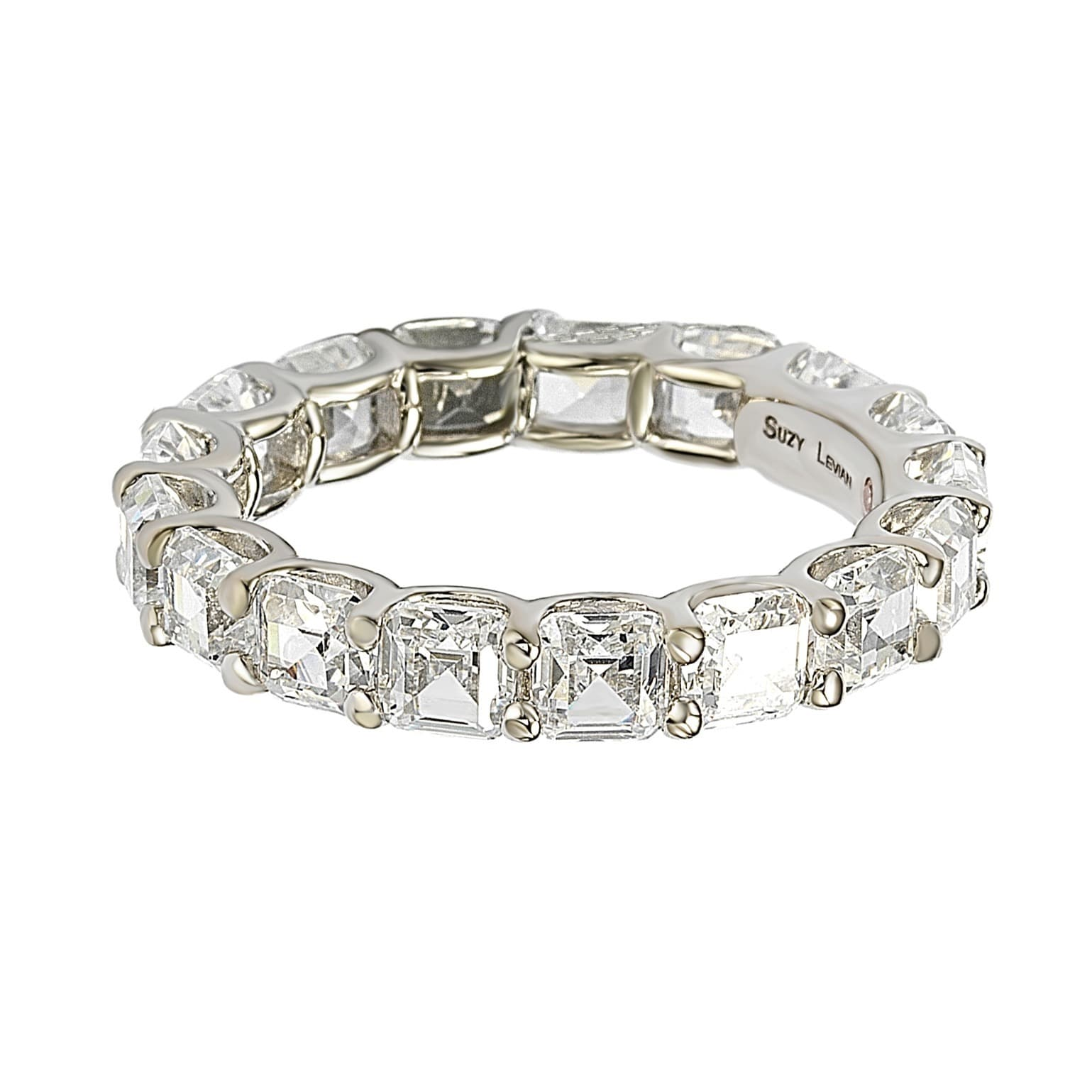 alphabet bands cubic deal detail band eternity emerald cut zirconia