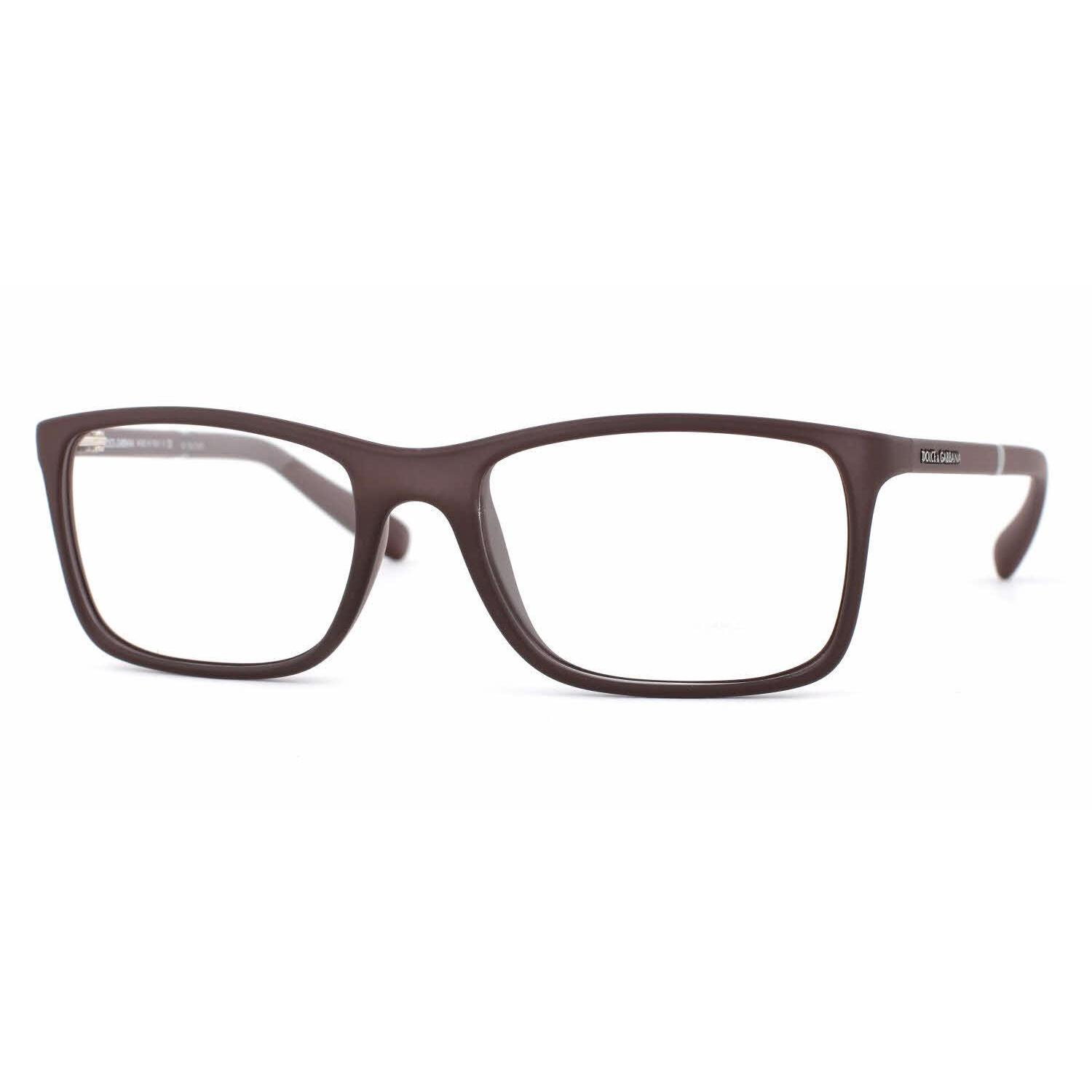 cc2f5e1d505f Shop Dolce   Gabbana Mens DG5004 LIFESTYLE 2652 Brown Plastic Rectangle  Eyeglasses - Free Shipping Today - Overstock.com - 13613630