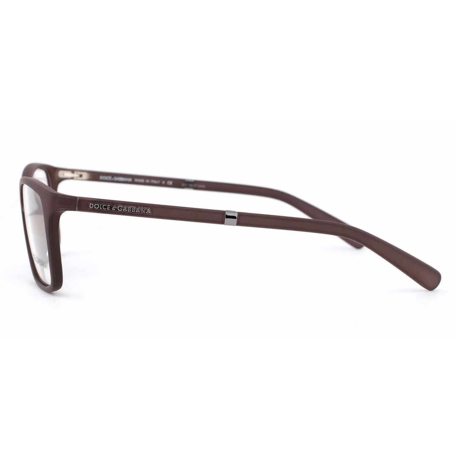 7cd8efdf8aa Shop Dolce   Gabbana Mens DG5004 LIFESTYLE 2652 Brown Plastic Rectangle  Eyeglasses - Free Shipping Today - Overstock.com - 13613630