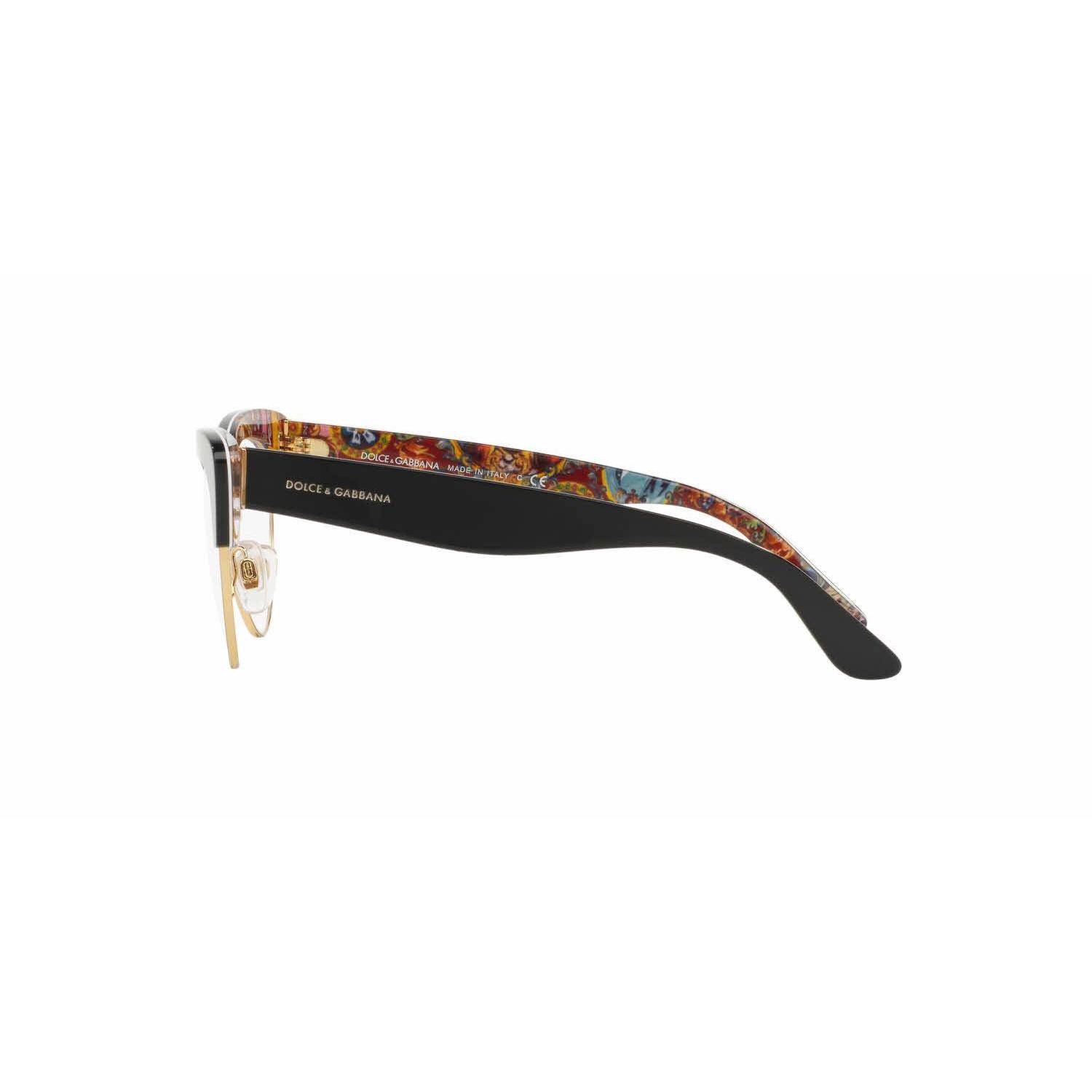 6f650d59bed Shop Dolce   Gabbana Womens DG3247 3033 Plastic Cat Eye Eyeglasses - Free  Shipping Today - Overstock - 13613746
