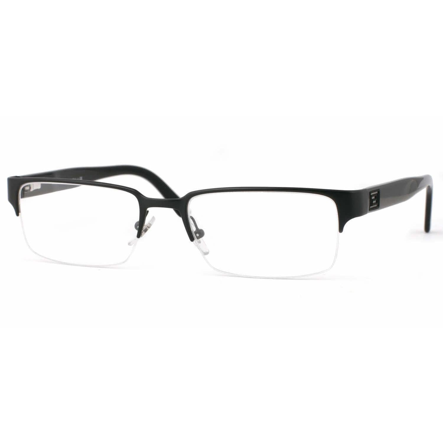 4f706260d0a2a Shop Versace Mens VE1184 1261 Black Metal Rectangle Eyeglasses - Free  Shipping Today - Overstock - 13614532
