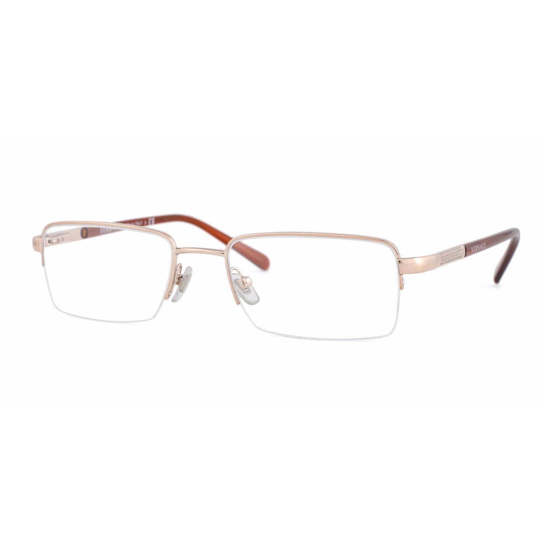 bc38e080bda Shop Versace Mens VE1066 1053 Bronze Copper Metal Square Eyeglasses ...