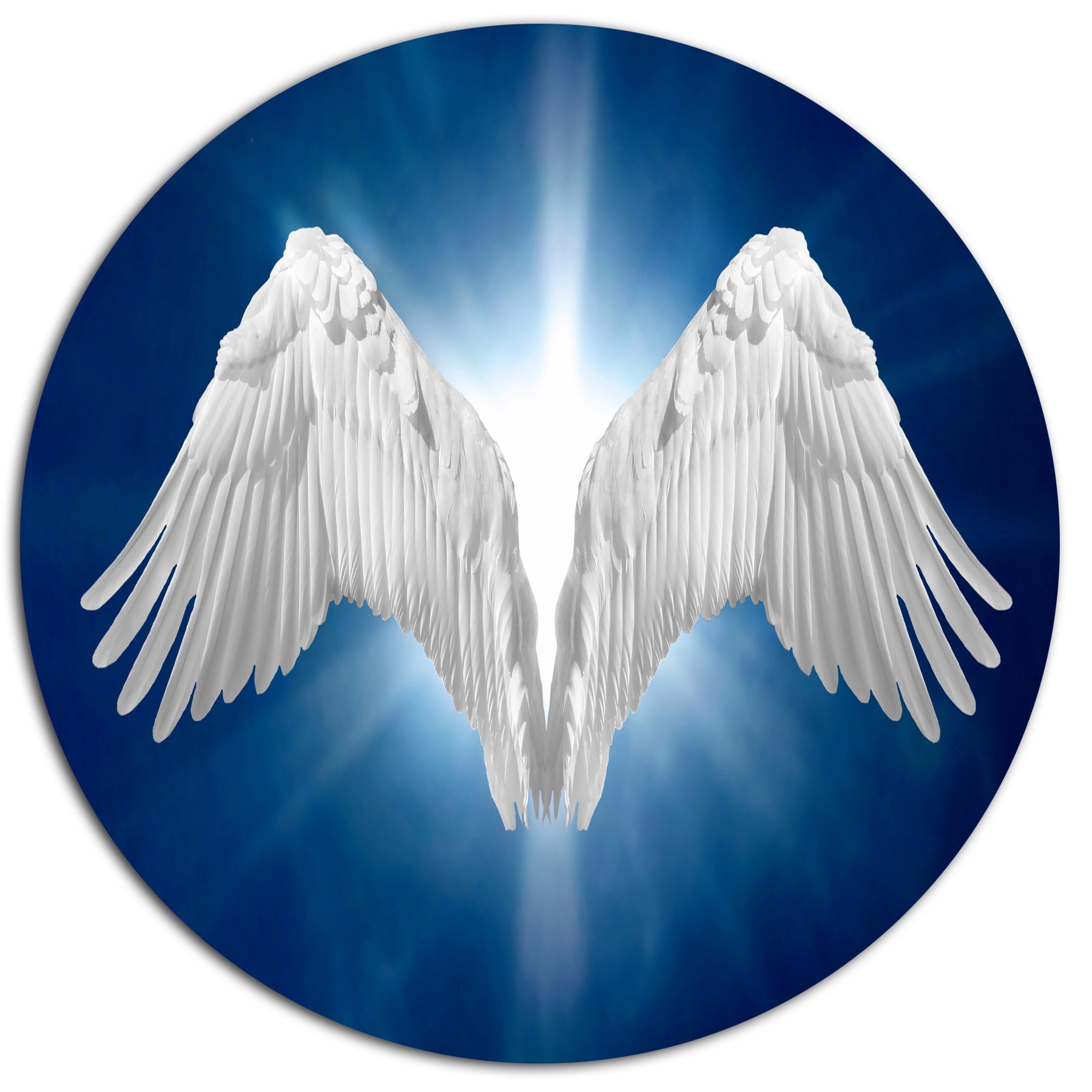 Shop Designart \'Angel Wings on Blue Background\' Abstract Art Metal ...