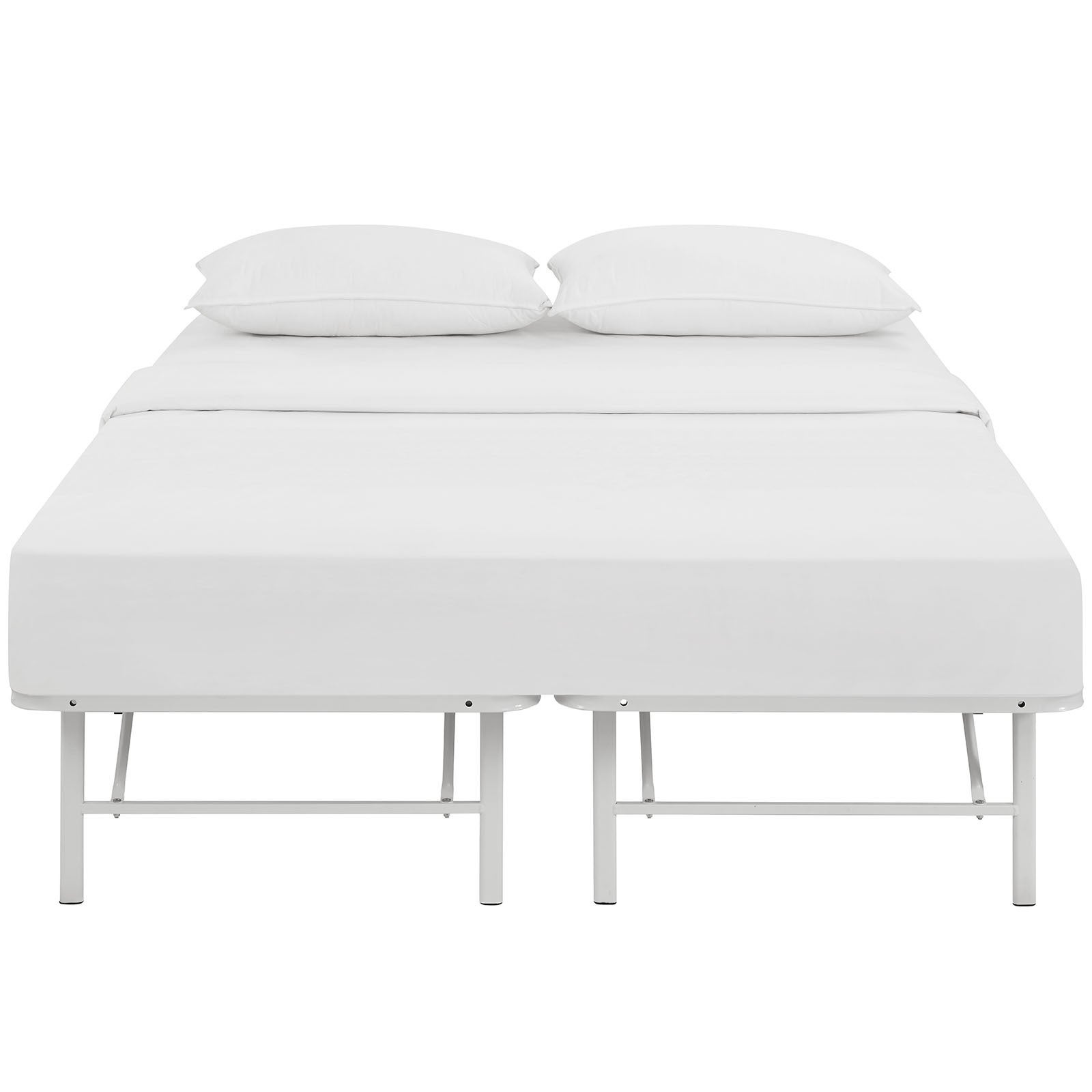 Shop Horizon White Stainless Steel Bed Frame - Free Shipping Today ...
