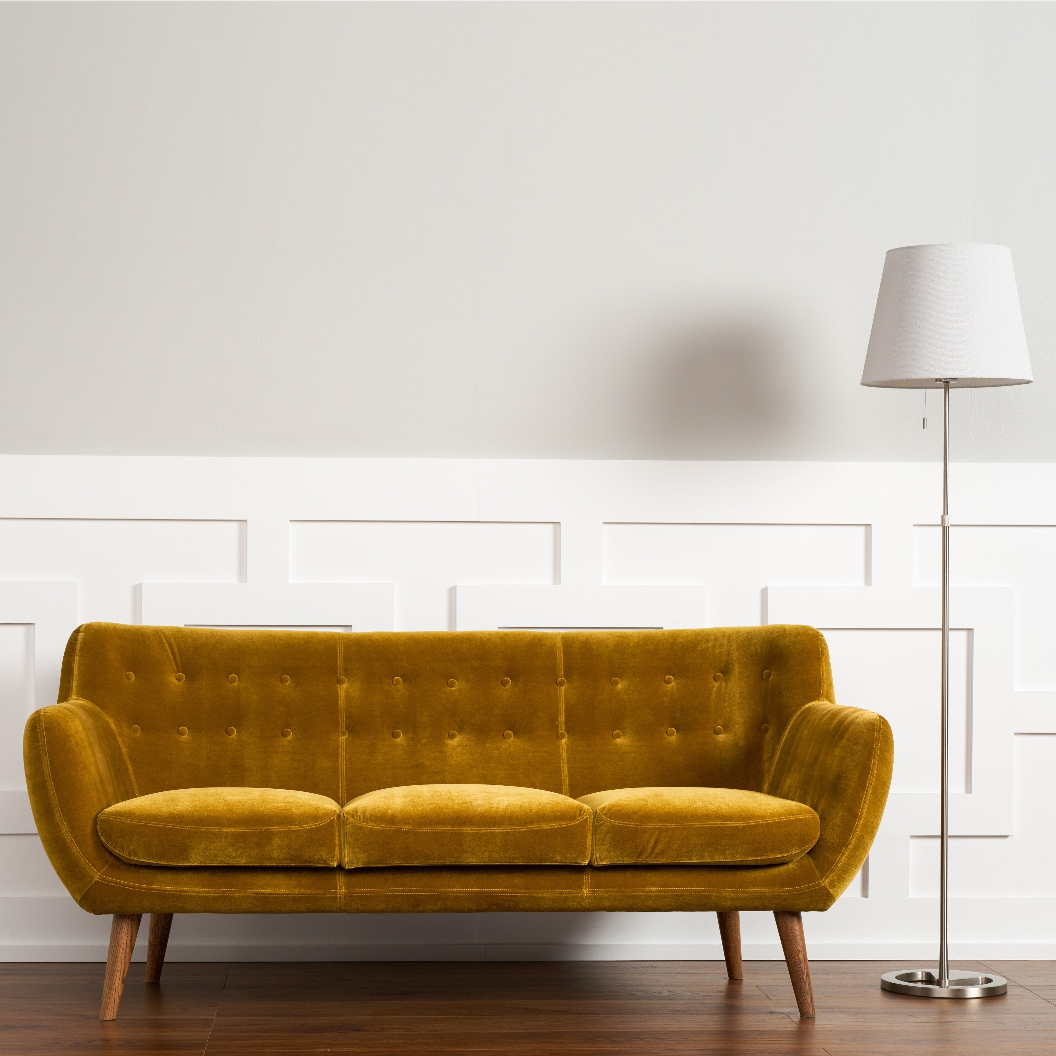 RST Rhodes' Mid-Century Modern Mustard Tufted Sofa - Free Shipping Today -  Overstock.com - 20291117