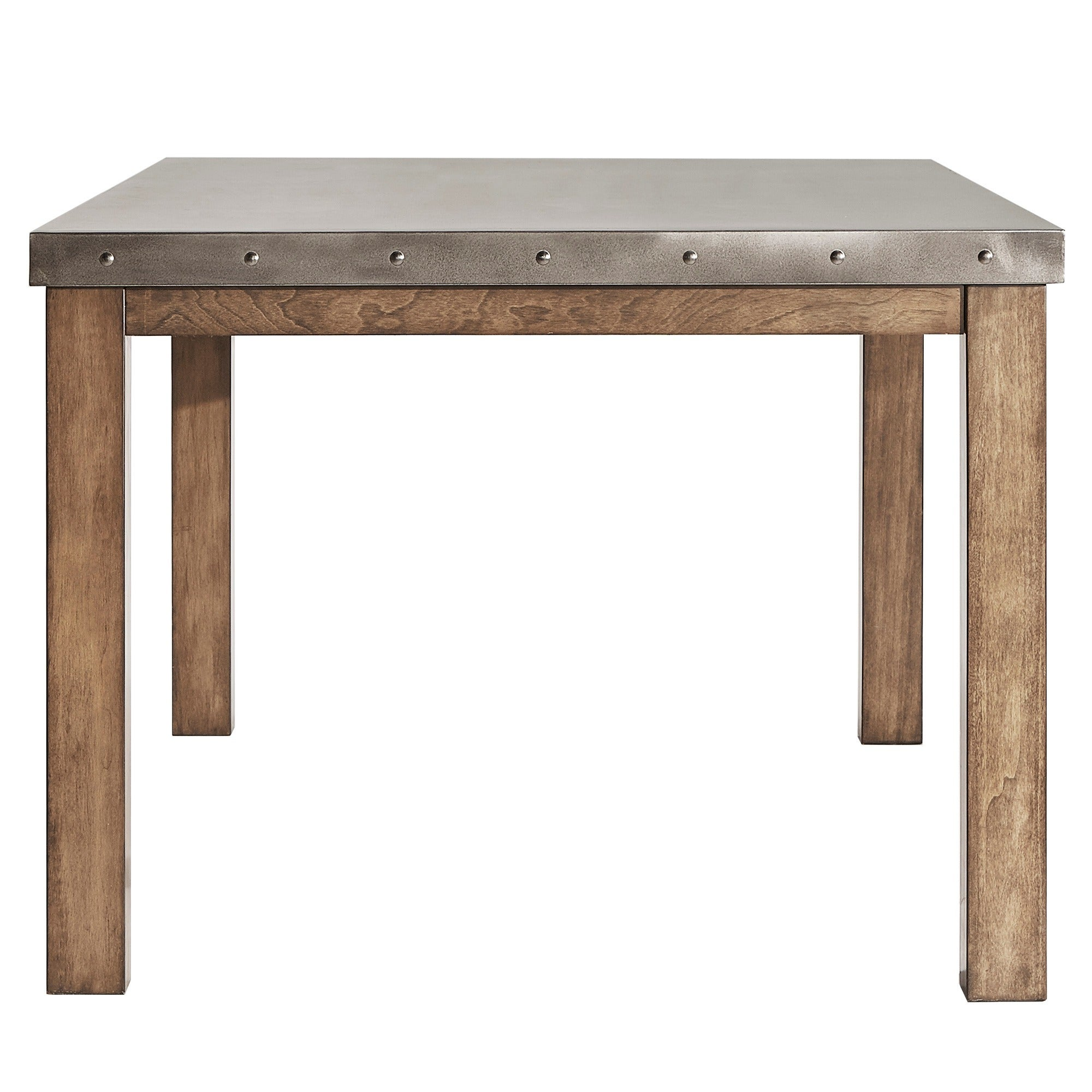 Cassidy Stainless Steel Top Rectangle Dining Table by iNSPIRE Q Artisan -  Free Shipping Today - Overstock.com - 20291190