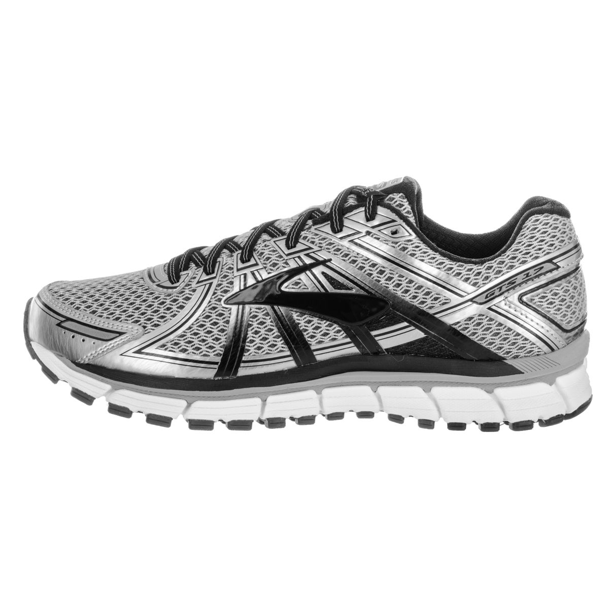 Shop Brooks Men s Adrenaline GTS 17 Silver Running Shoes - Free Shipping  Today - Overstock - 13620267 f5f0139e9e12