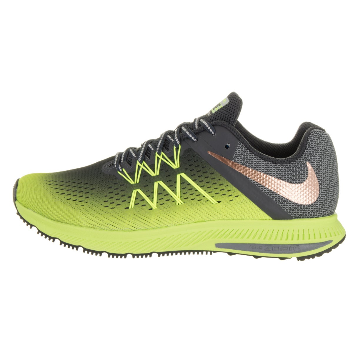 Shop Nike Men s Zoom Winflo 3 Shield Green Faux Leather Running Shoe - Free  Shipping Today - Overstock - 13620365 35261d3eb037
