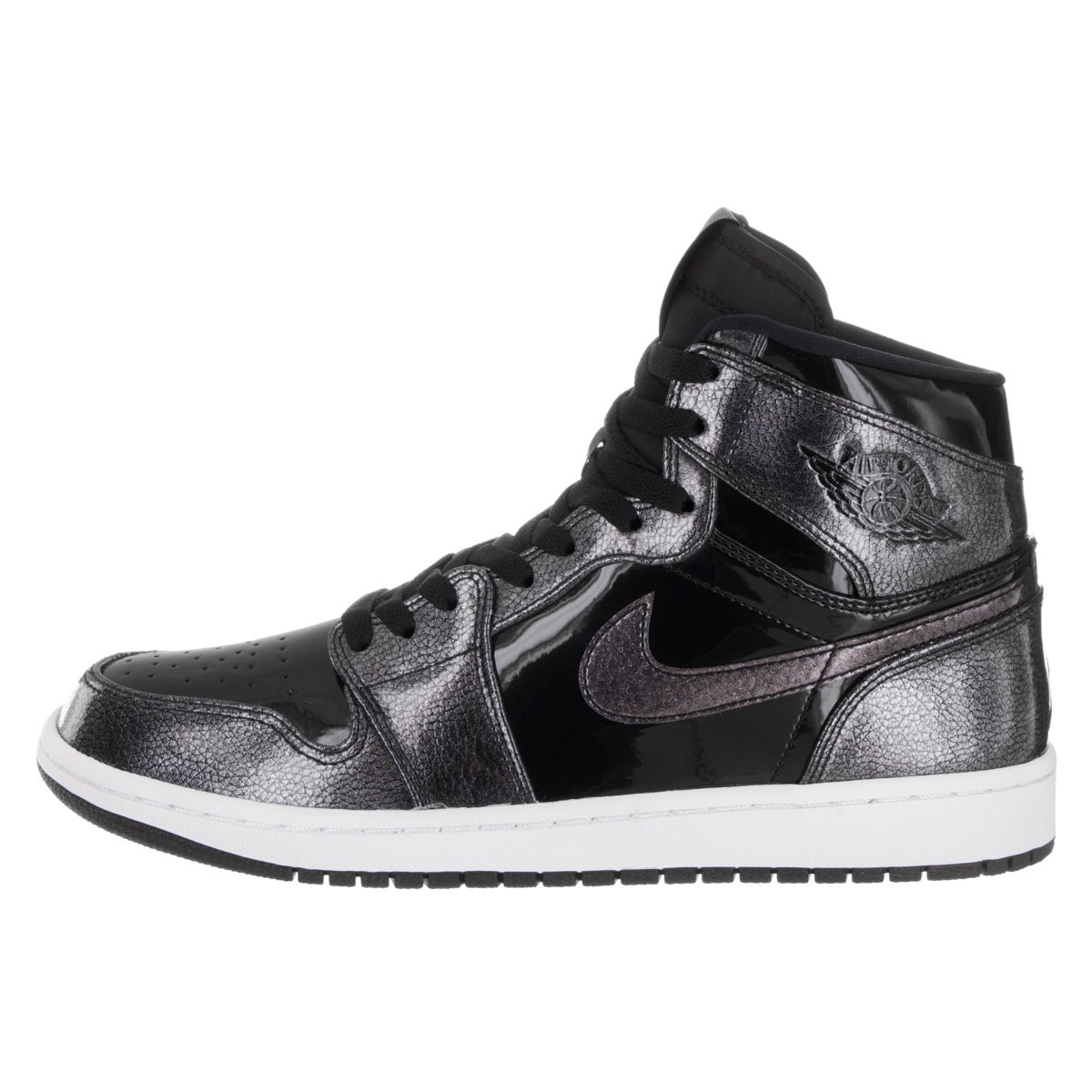 0aec9a28dd3437 Shop Nike Jordan Men s Air Jordan 1 Black Patent Leather Retro High  Basketball Shoe - Free Shipping Today - Overstock - 13620729