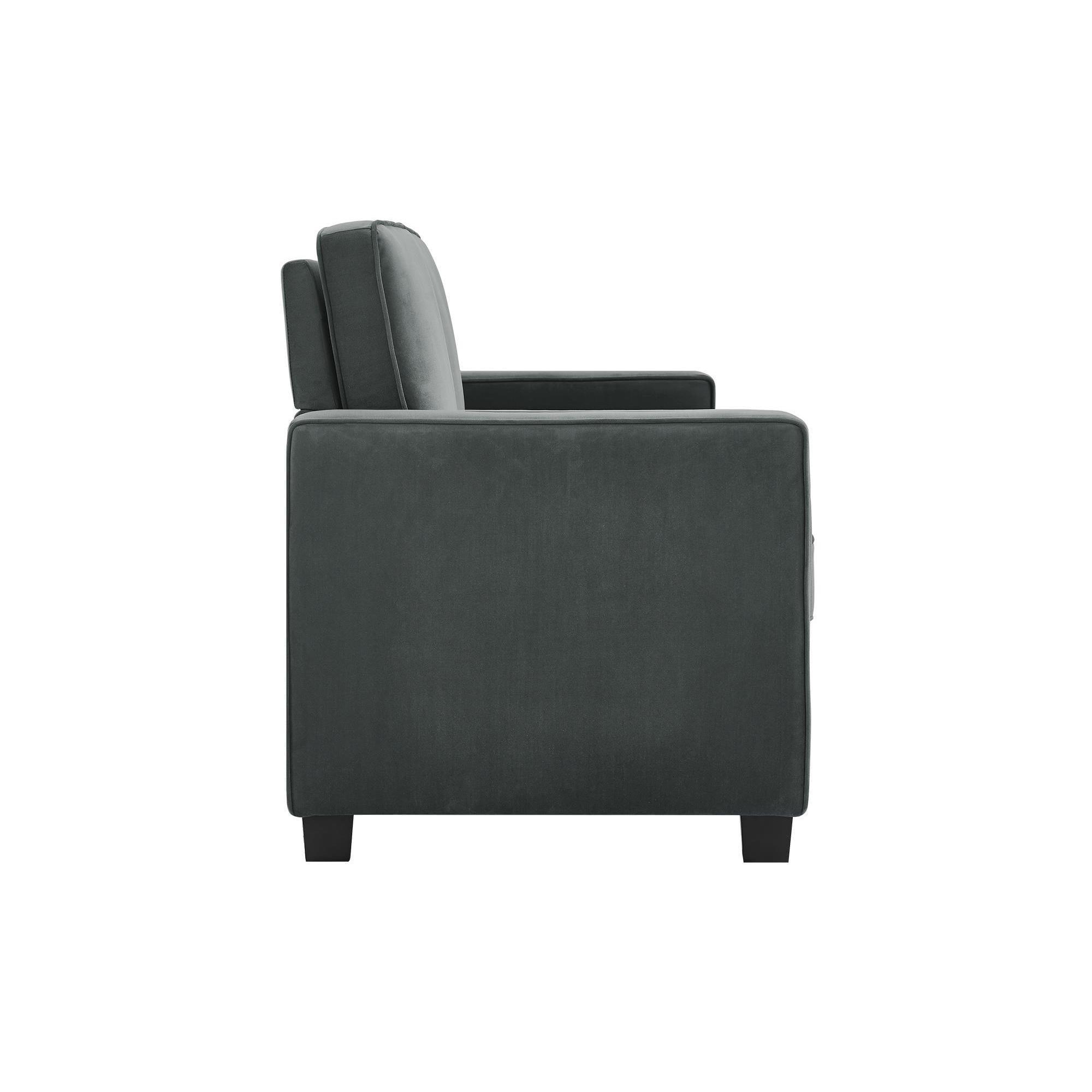 dhp signature sleep casey grey velvet queen sleeper sofa free