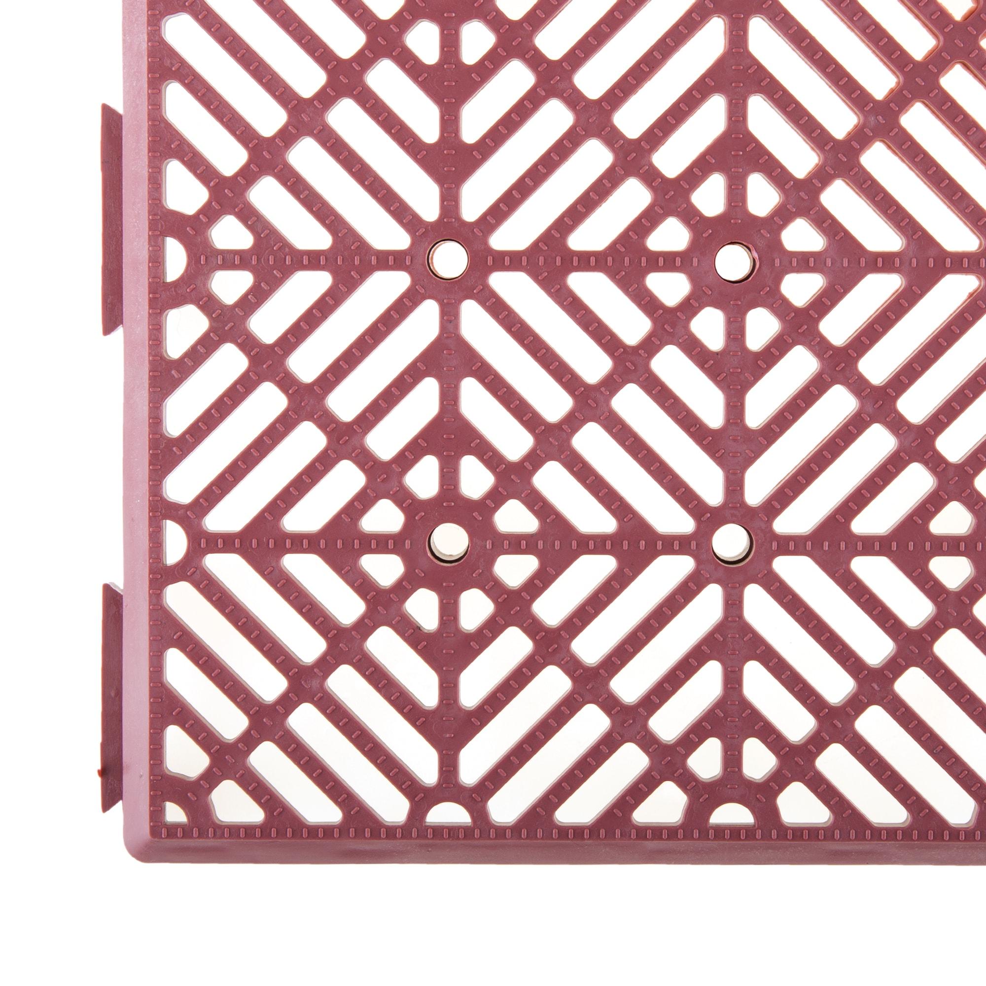 Pure Garden Interlocking Patio Deck or Garage Floor Tiles 12 x