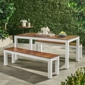 Bali Outdoor 3-piece Wood Picnic Set by Christopher Knight Home