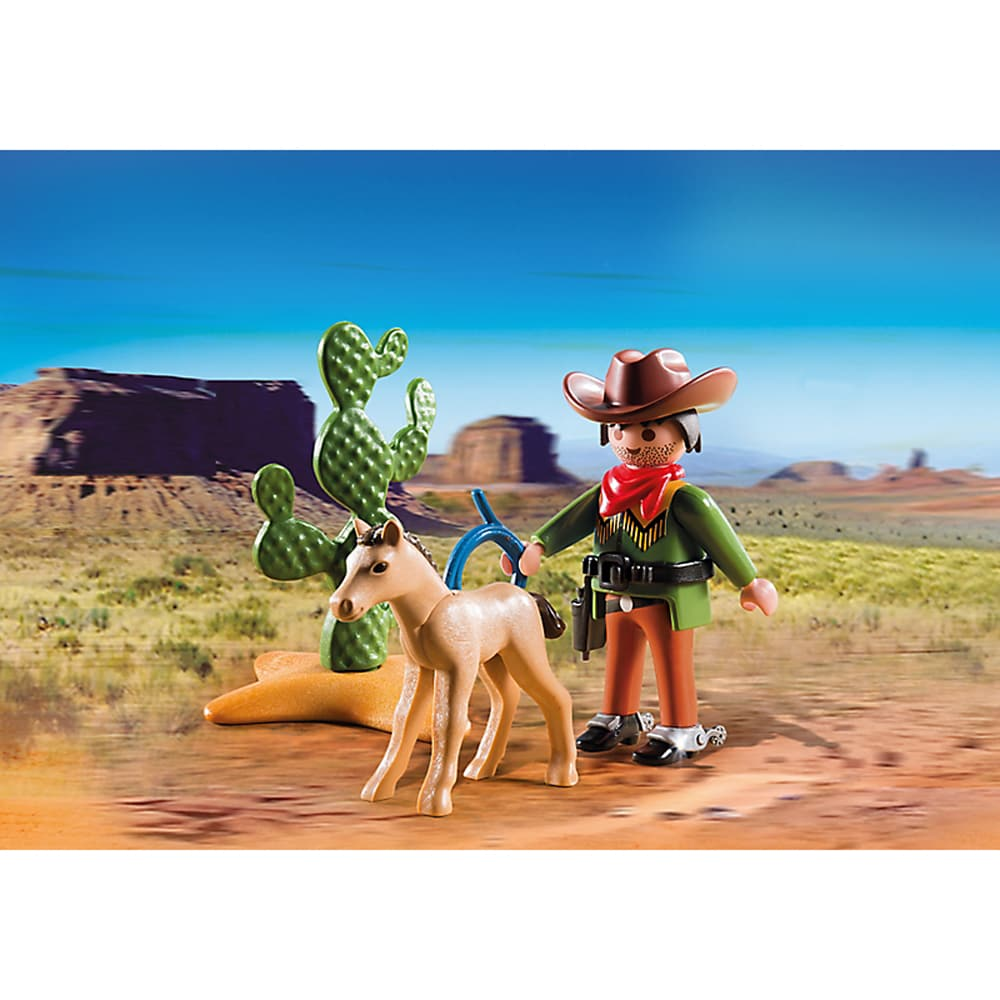 Shop Playmobil Pm5373 Cowboy With Foal Playset Ships To Canada