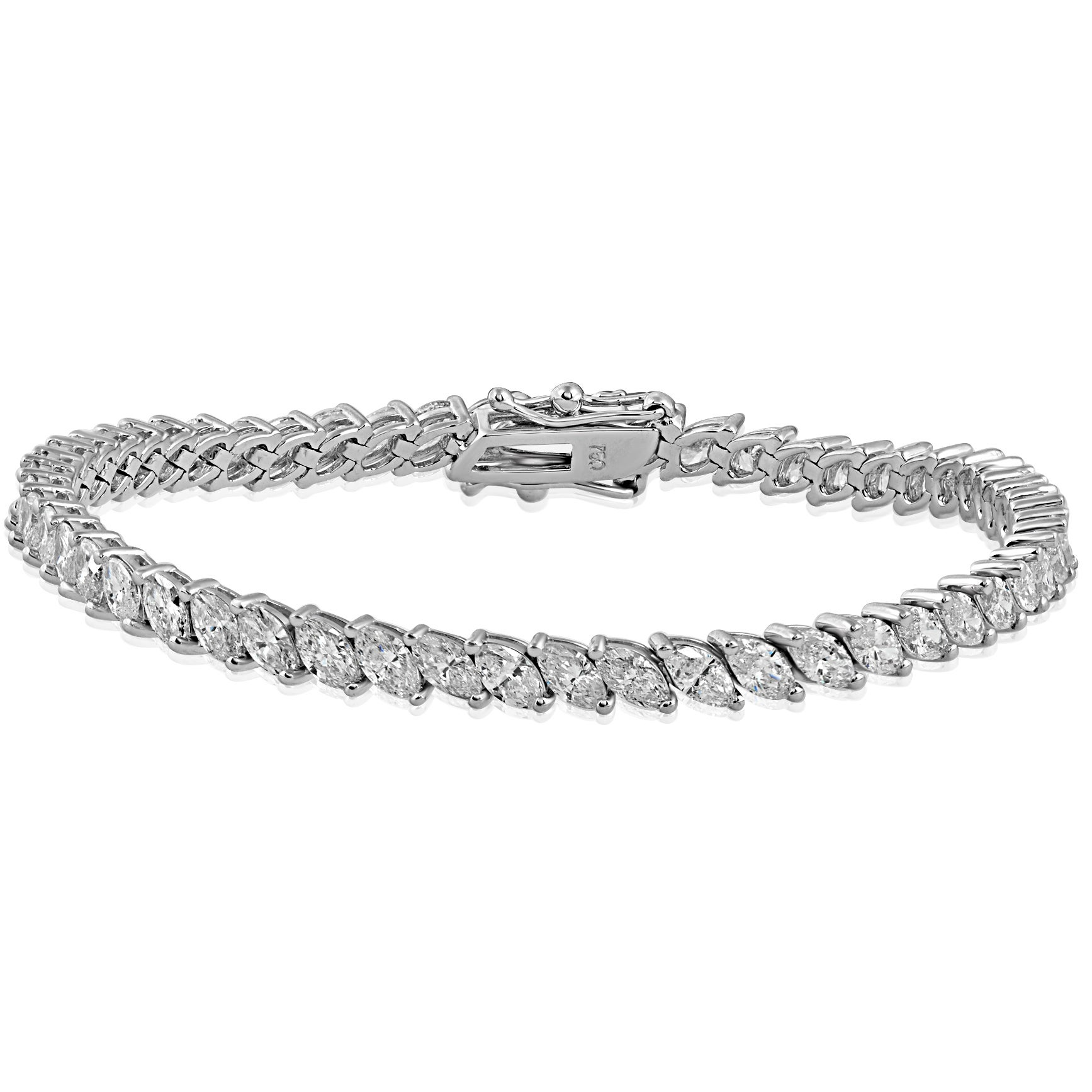marquise in everything jewelry product uneek platinum bracelet diamond
