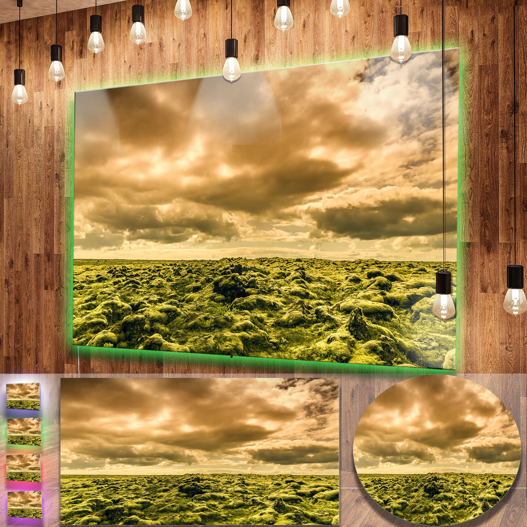 Shop Designart \'Beautiful View of Sky and Moss\' Large Landscape ...