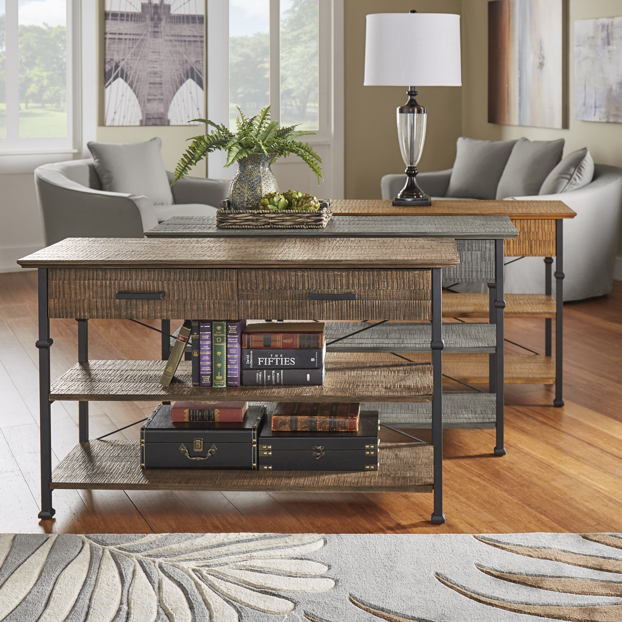 Myra Vintage Industrial Modern Rustic Media TV Stand Console by iNSPIRE Q  Classic - Free Shipping Today - Overstock.com - 20343142