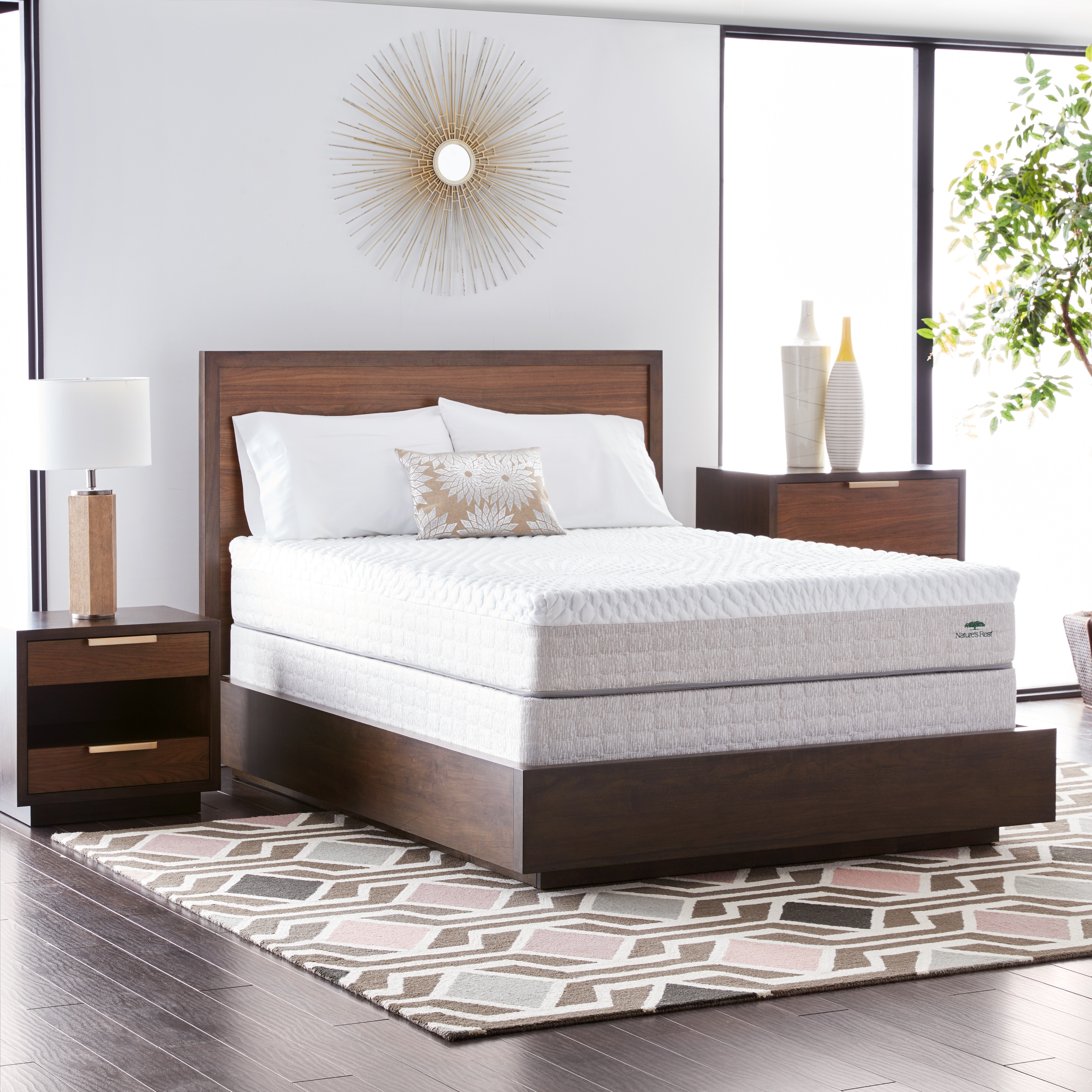 Shop Natures Rest Firm Talalay 10 Inch King Size Latex Mattress Set   White    On Sale   Free Shipping Today   Overstock.com   13680933