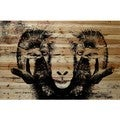 Parvez Taj - 'Staring Ram Eyes' Painting Print on Natural Pine Wood