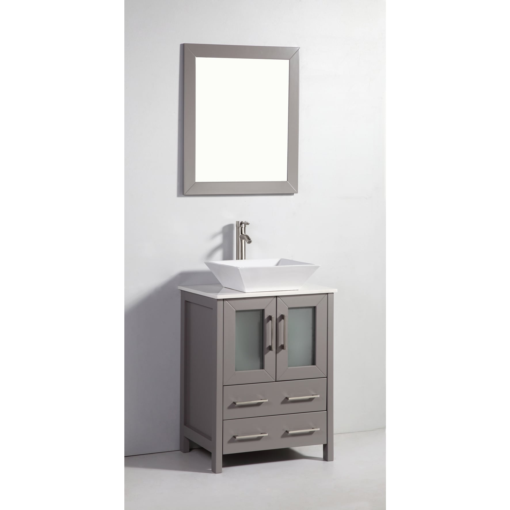 Shop Vanity Art 24 Inch Single Sink Bathroom Vanity Set With Ceramic Top    On Sale   Free Shipping Today   Overstock.com   13681646