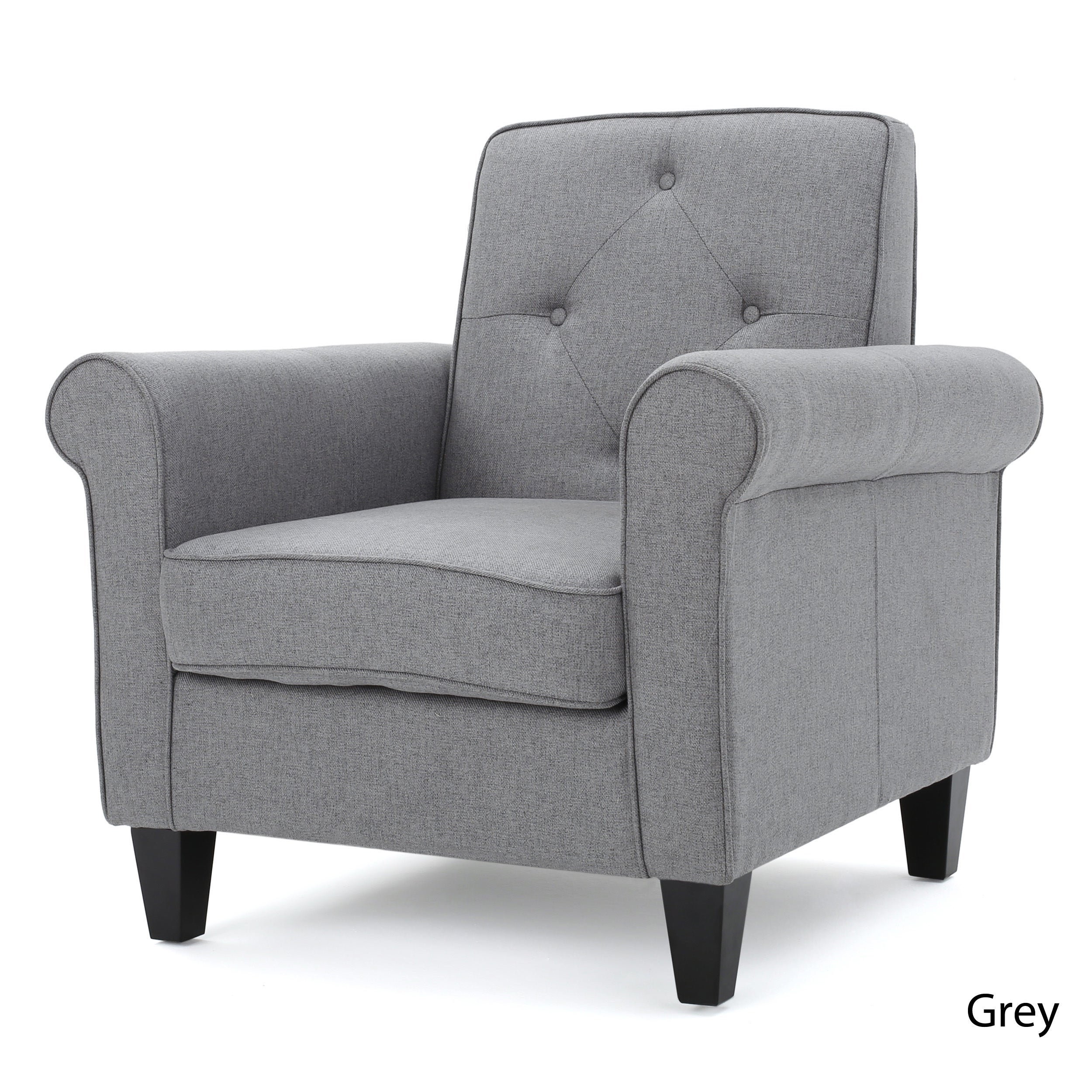 Shop Isaac Tufted Fabric Club Chair By Christopher Knight Home   On Sale    Free Shipping Today   Overstock.com   13683479