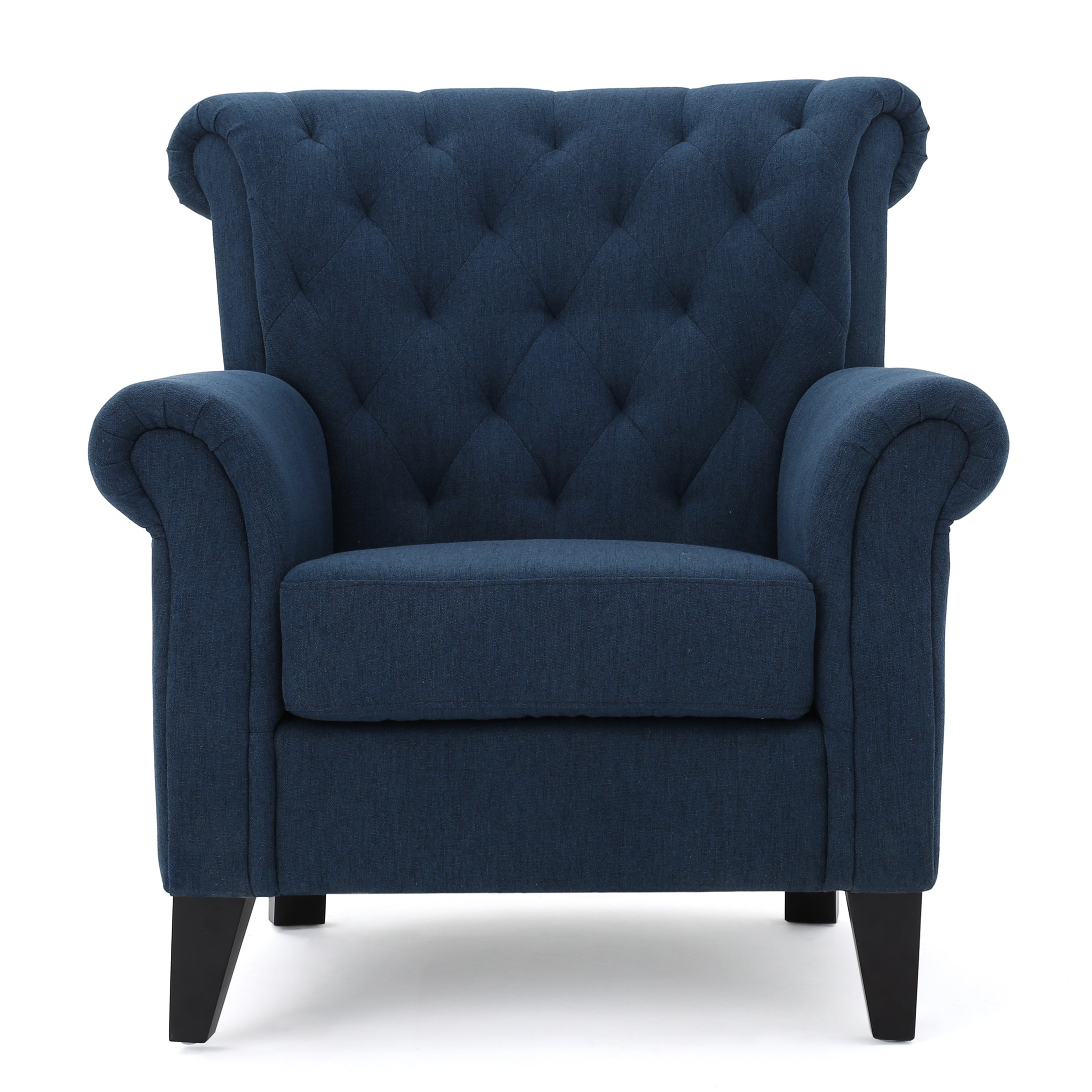 Shop Merritt High Back Tufted Fabric Club Chair By Christopher Knight Home    Free Shipping Today   Overstock.com   13683481