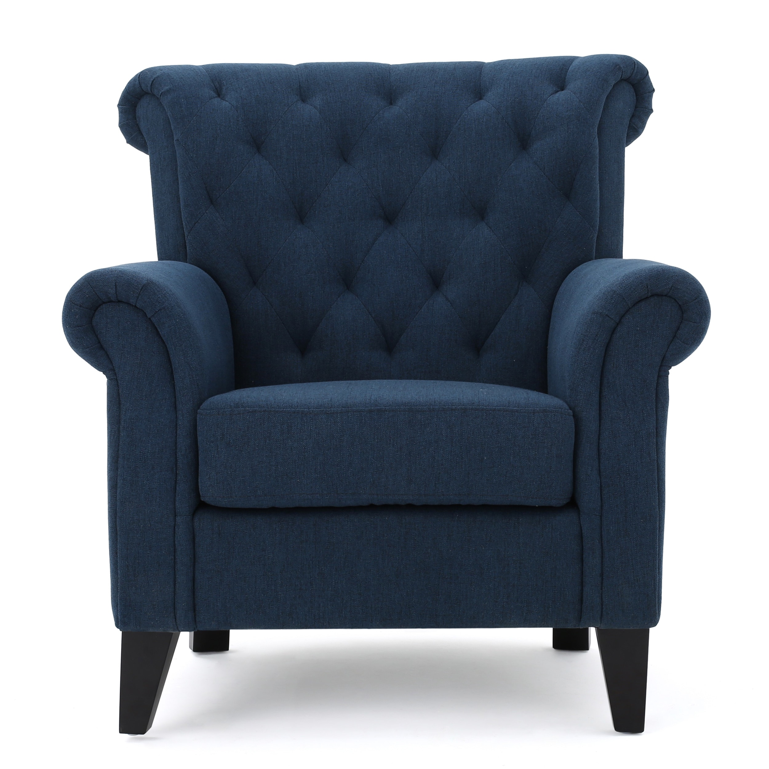 Merritt High Back Tufted Fabric Club Chair By Christopher Knight Home Free Shipping Today 13683481