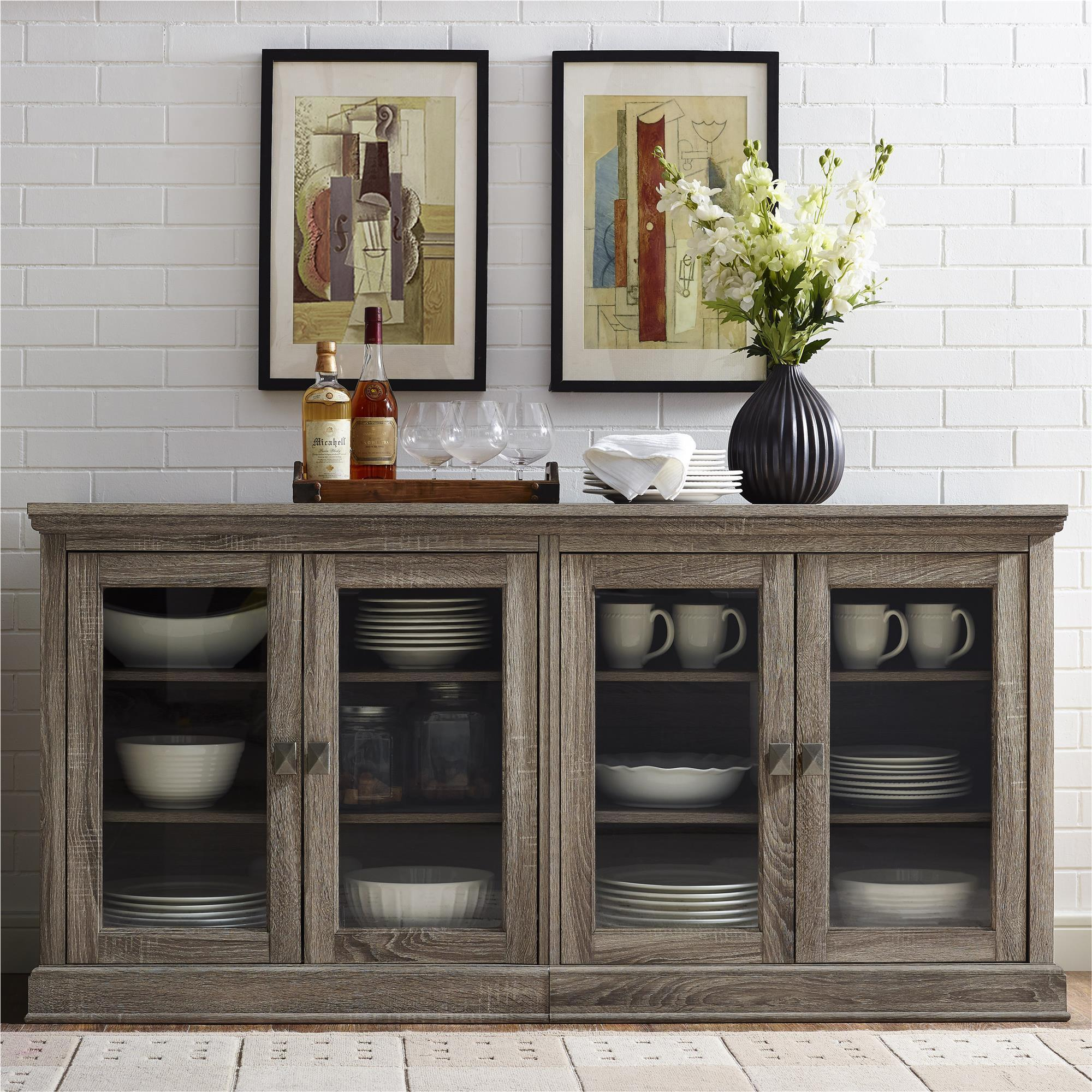 Shop Avenue Greene Adelle TV Stand With Glass Doors For TVs Up To 70   N/a    Free Shipping Today   Overstock.com   13687232
